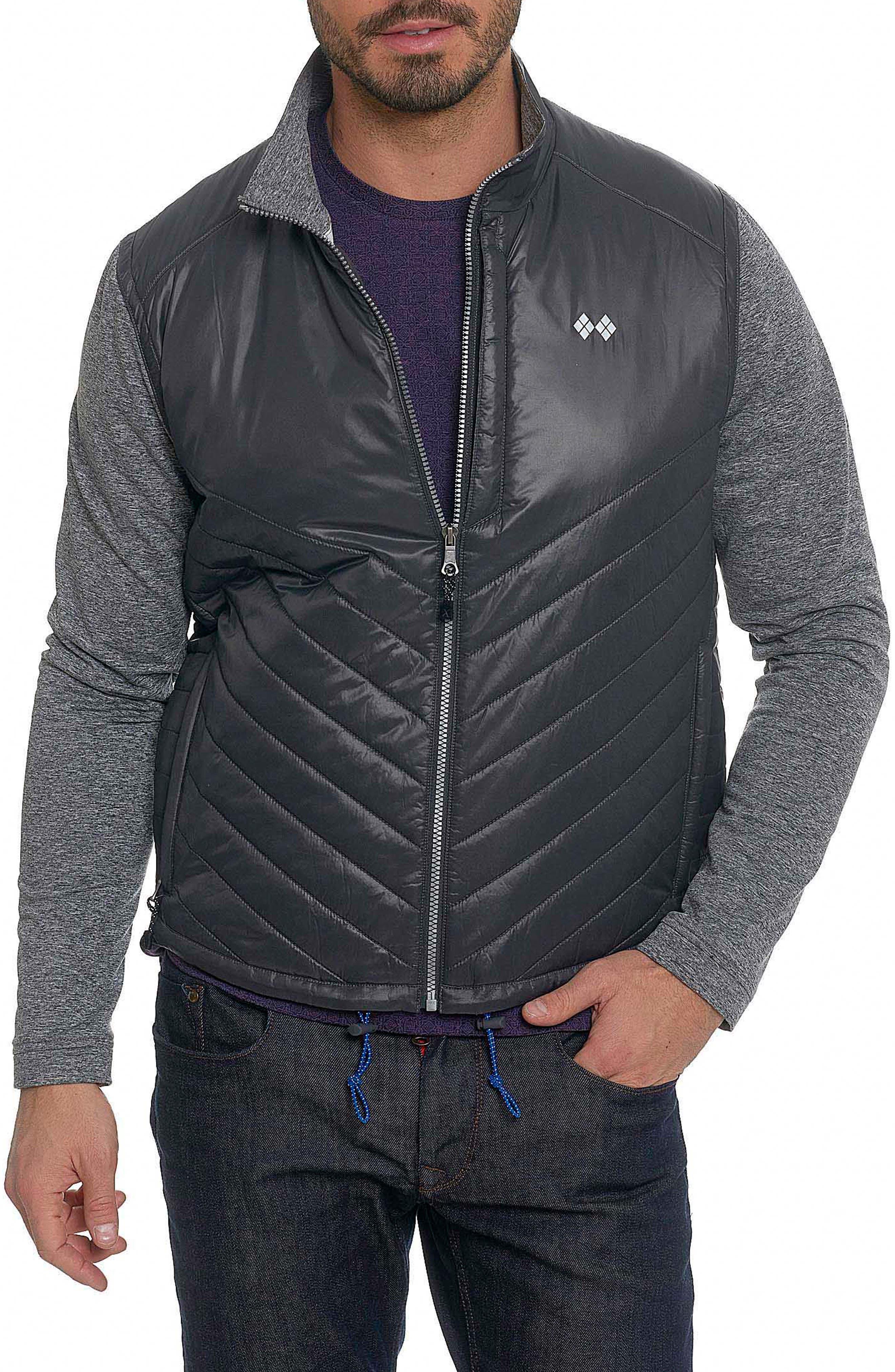 Main Image - Robert Graham Poconos Tailored Fit Mixed Media Jacket