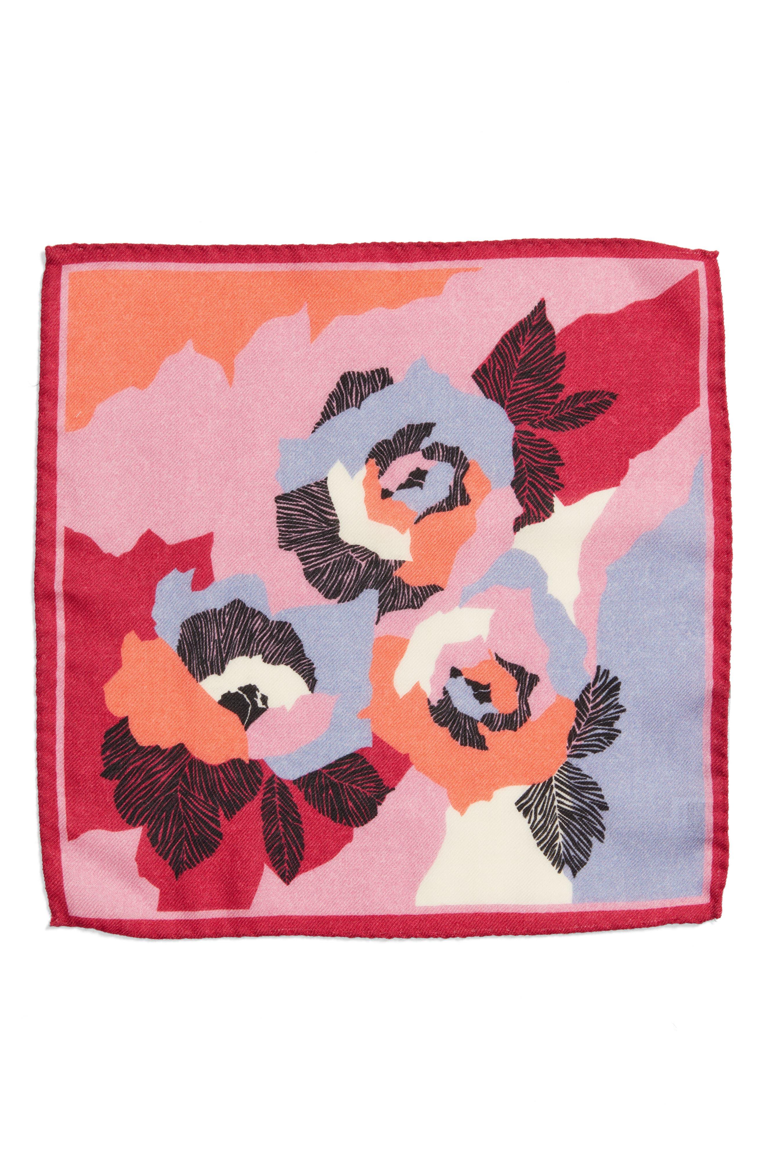 Alternate Image 2  - Bonobos Floral Wool Pocket Square