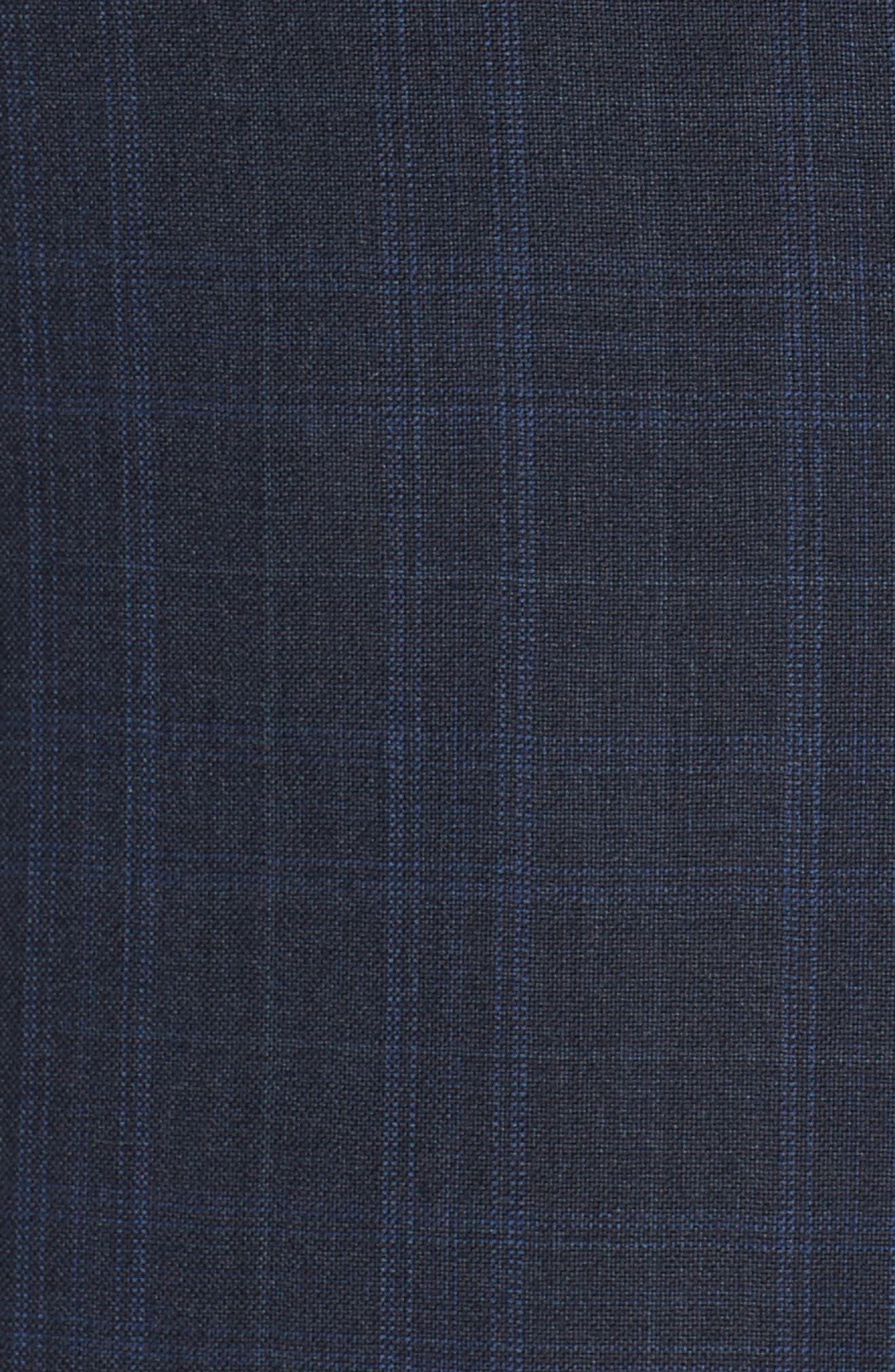 Alternate Image 7  - Hickey Freeman Classic B Fit Plaid Wool Suit