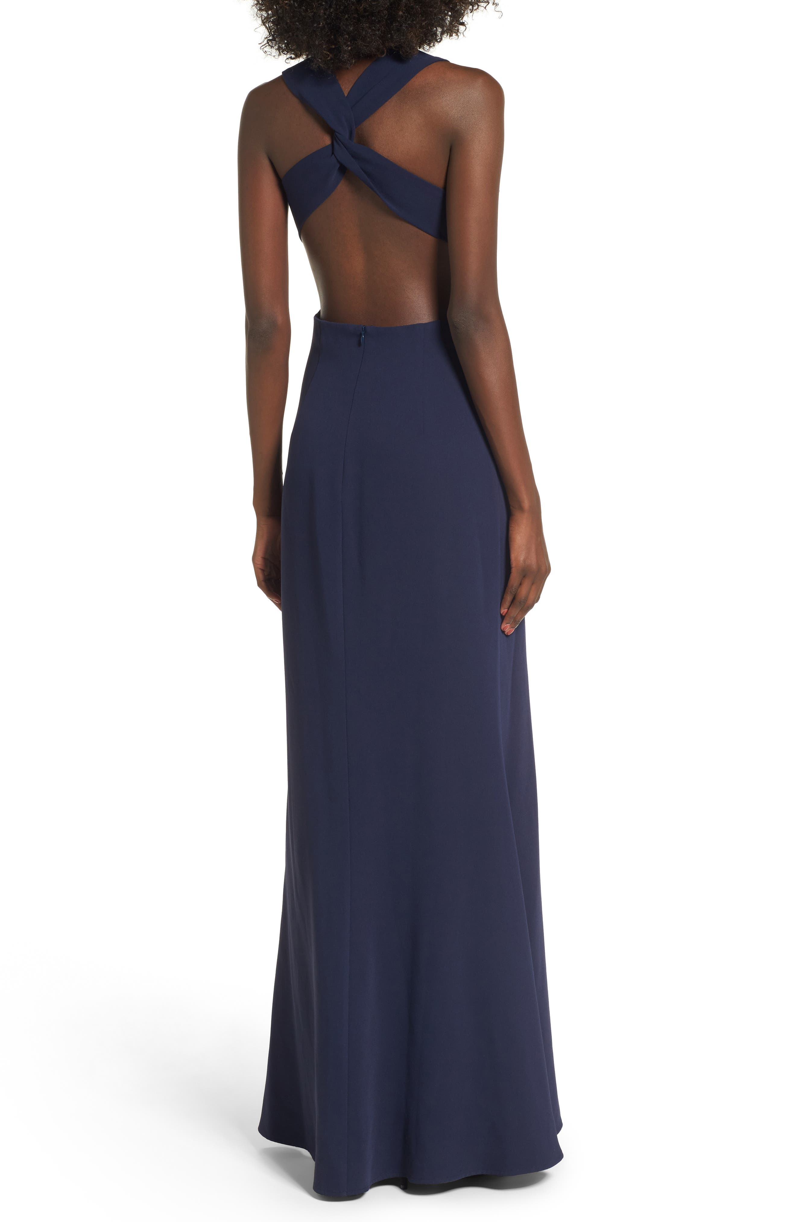 Yani Gown,                             Alternate thumbnail 2, color,                             Navy