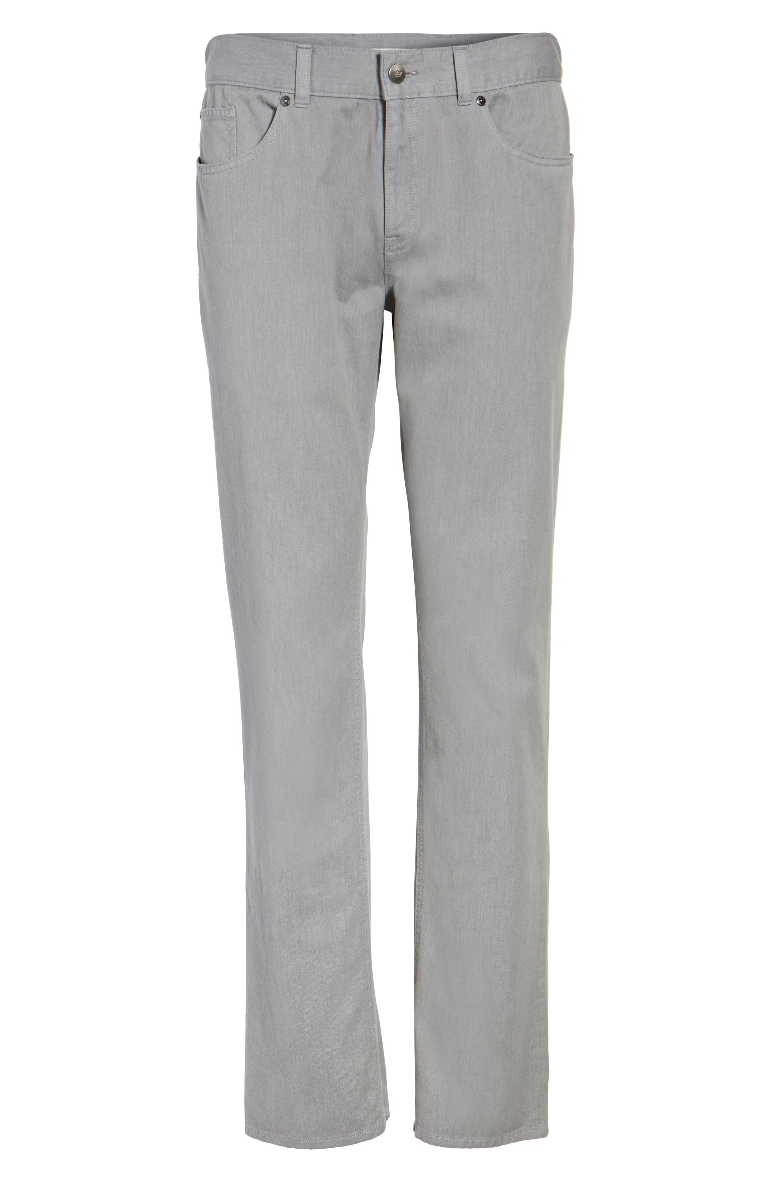 Mélange Five-Pocket Pants,                             Alternate thumbnail 6, color,                             Stingray