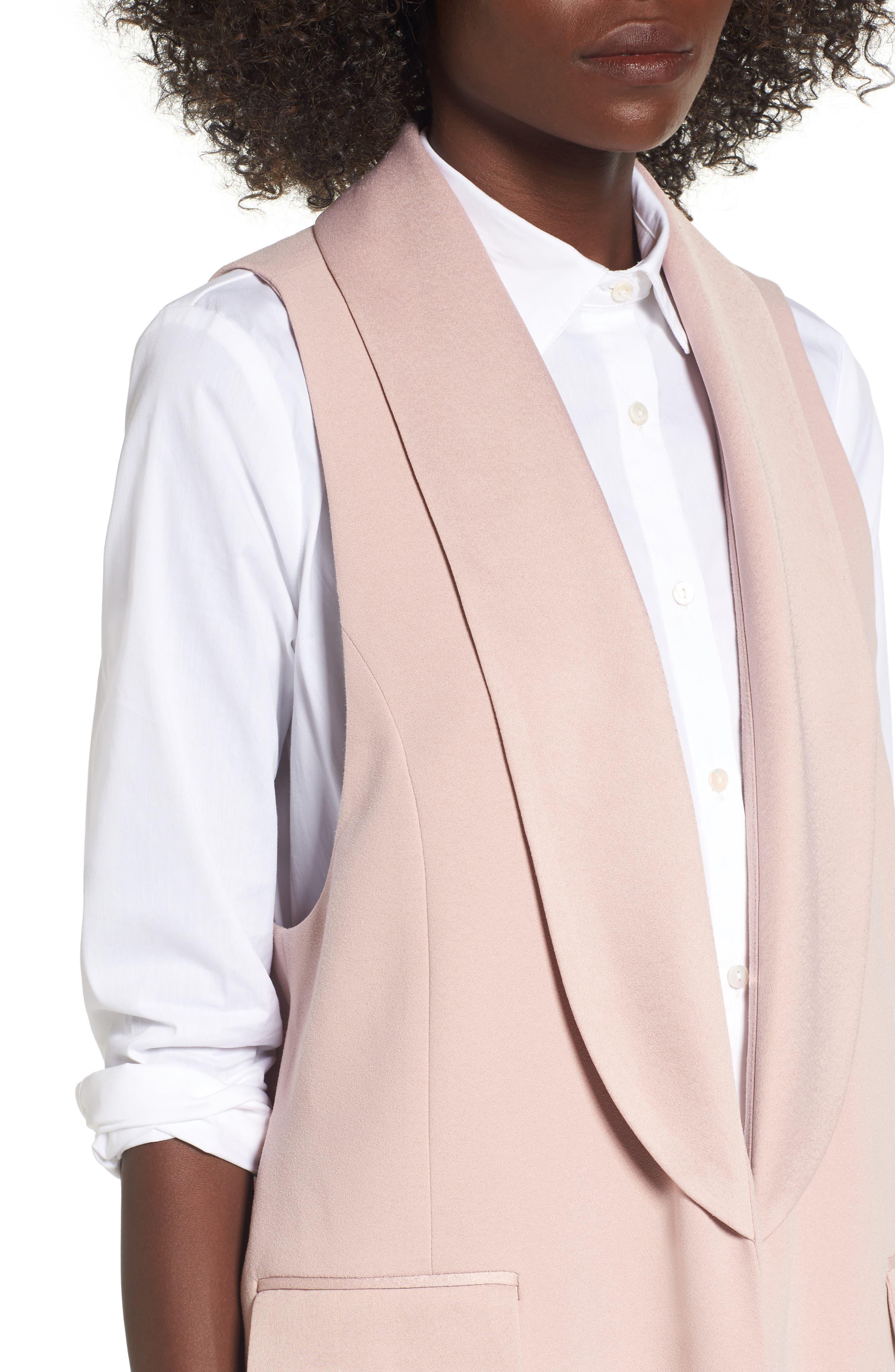Tuxedo Vest,                             Alternate thumbnail 4, color,                             Pink Adobe