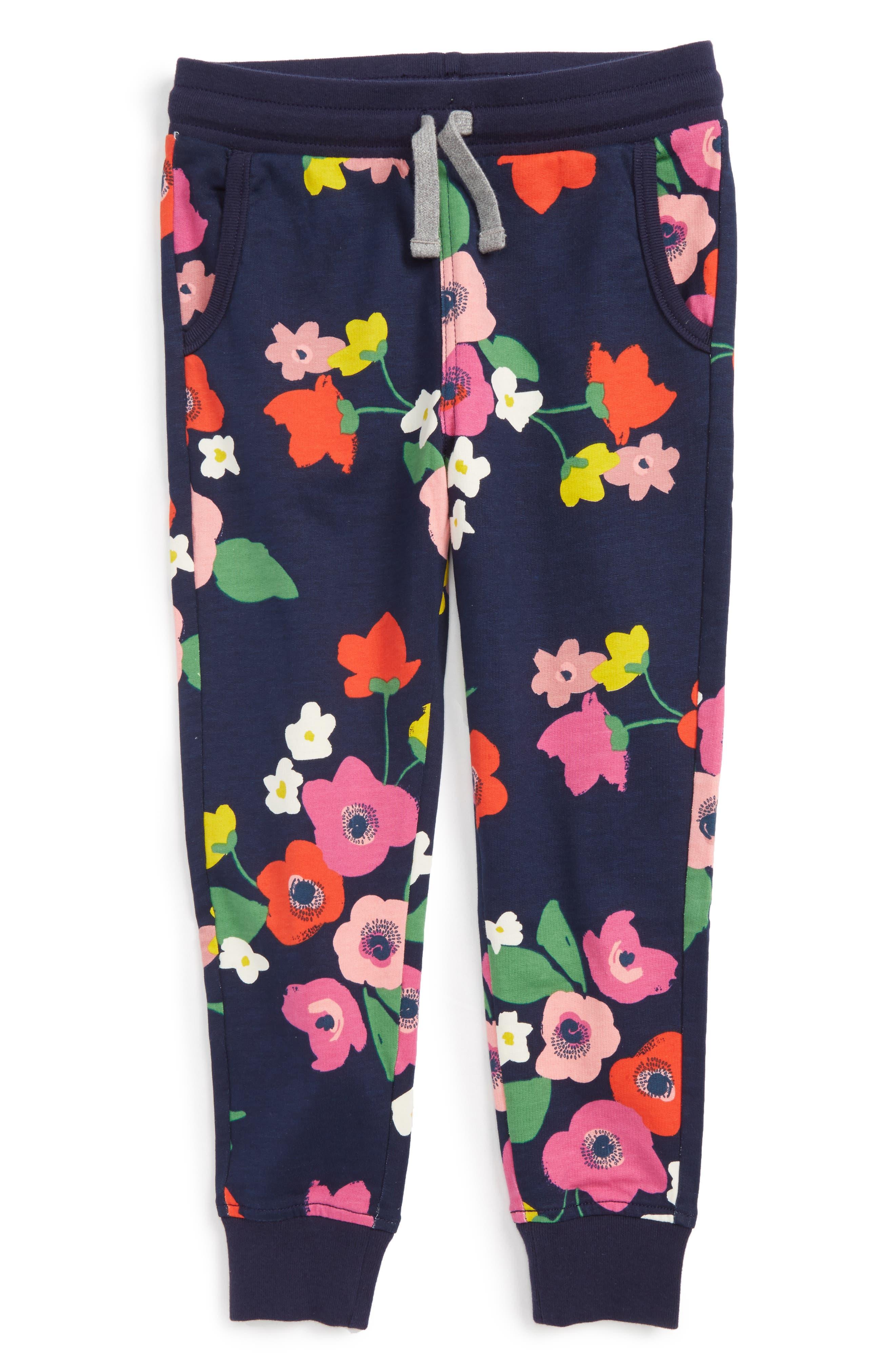 Main Image - Tea Collection Scotland Gardens Jogger Pants (Toddler Girls, Little Girls & Big Girls)