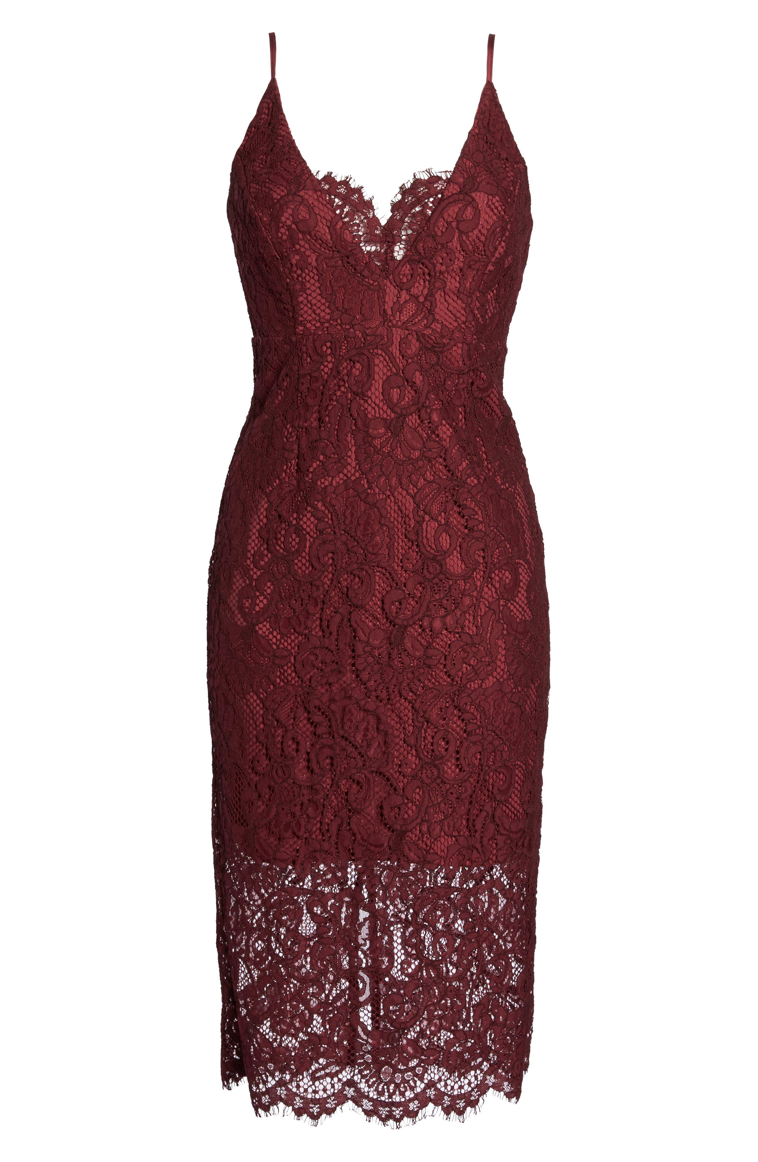 Alternate Image 6  - Bardot Lace Pencil Dress