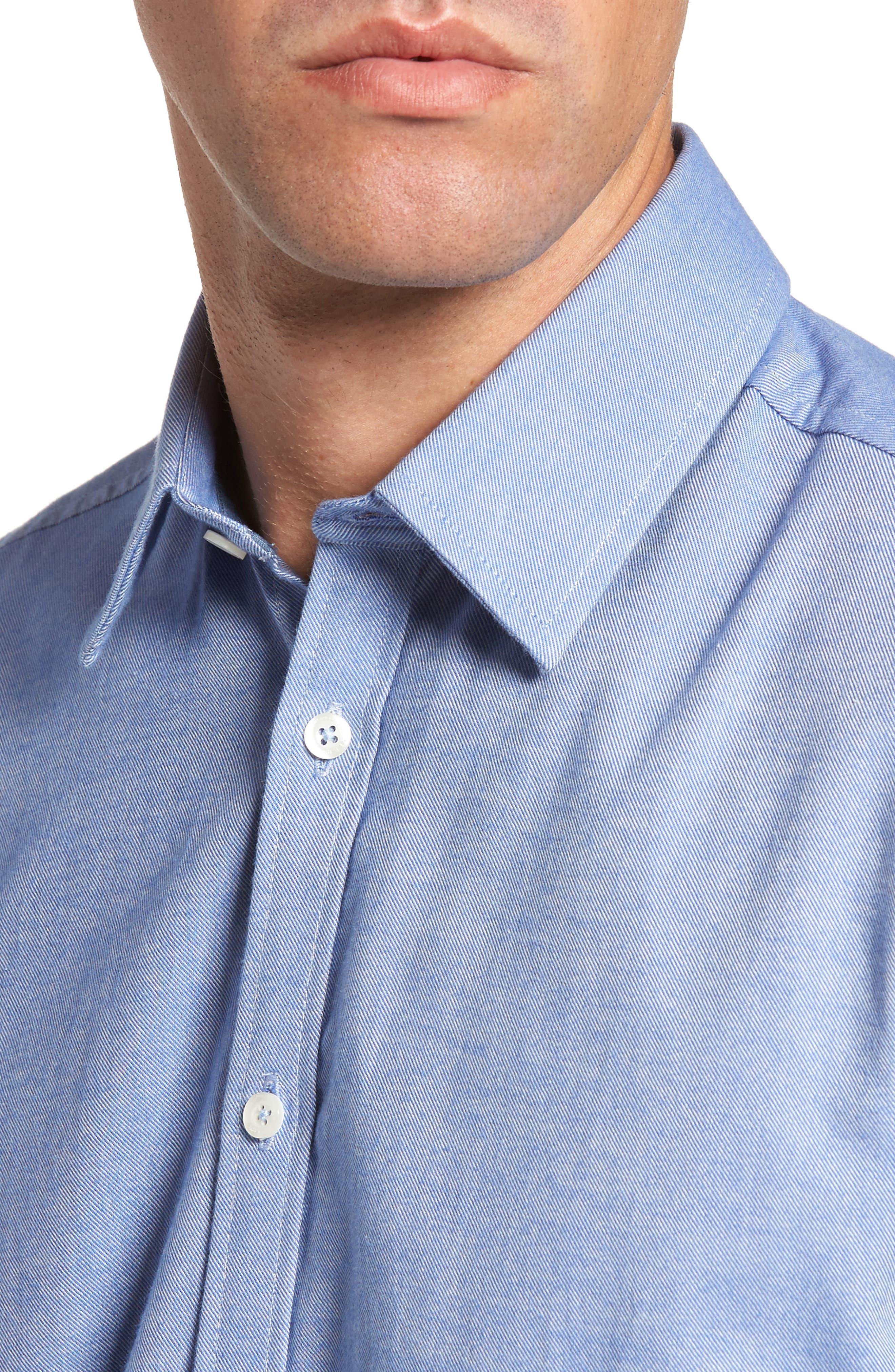 Alternate Image 4  - Jeremy Argyle Slim Fit Oxford Cloth Sport Shirt