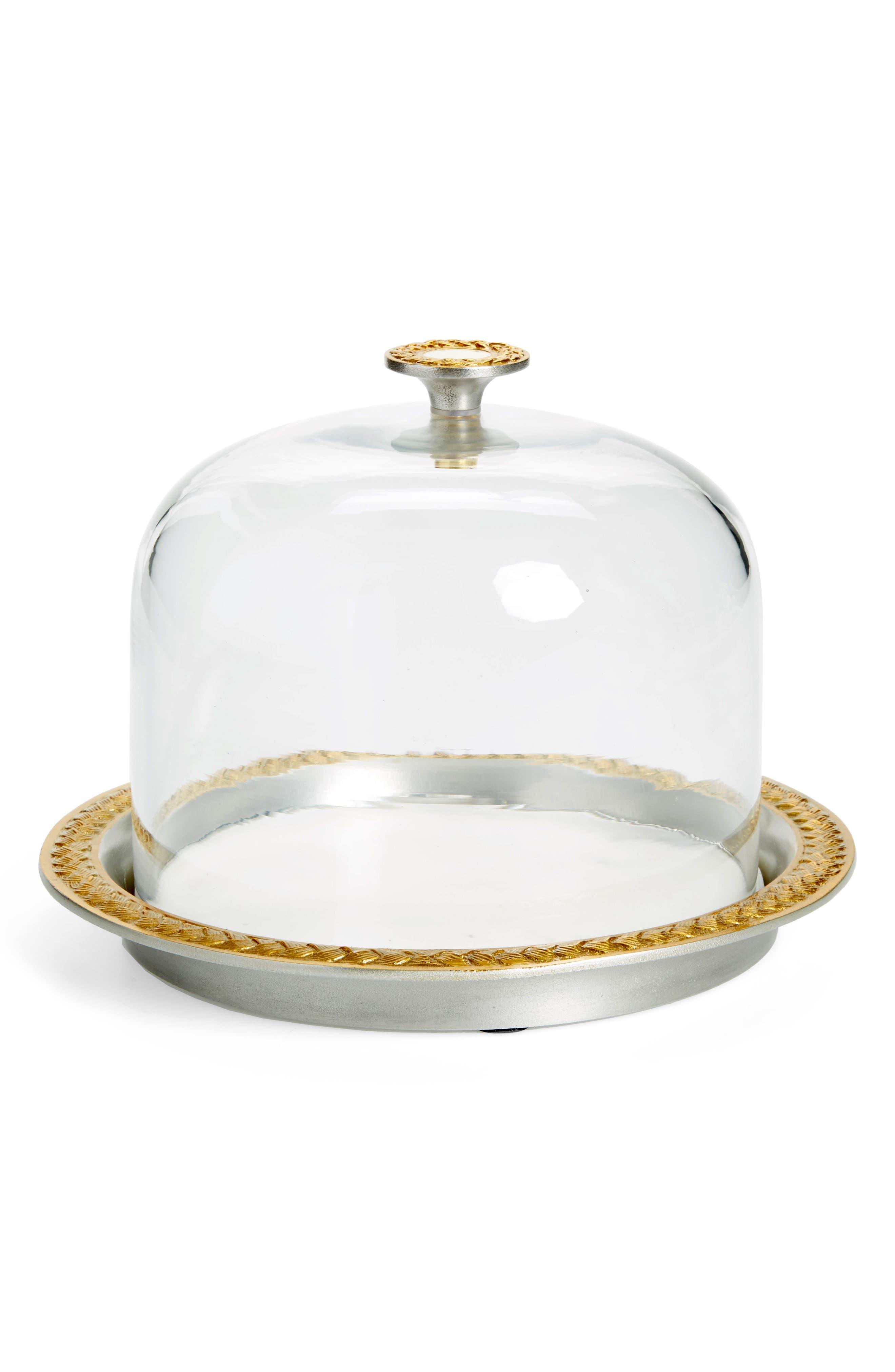 Marigold Artisans Braid Glass & Metal Cloche