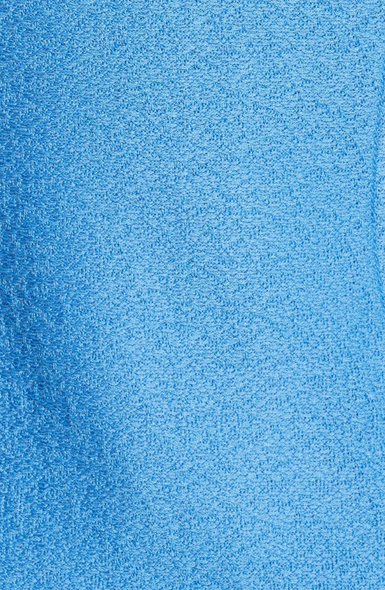 Hannah Knit Stand Collar Jacket,                             Alternate thumbnail 6, color,                             Niagara