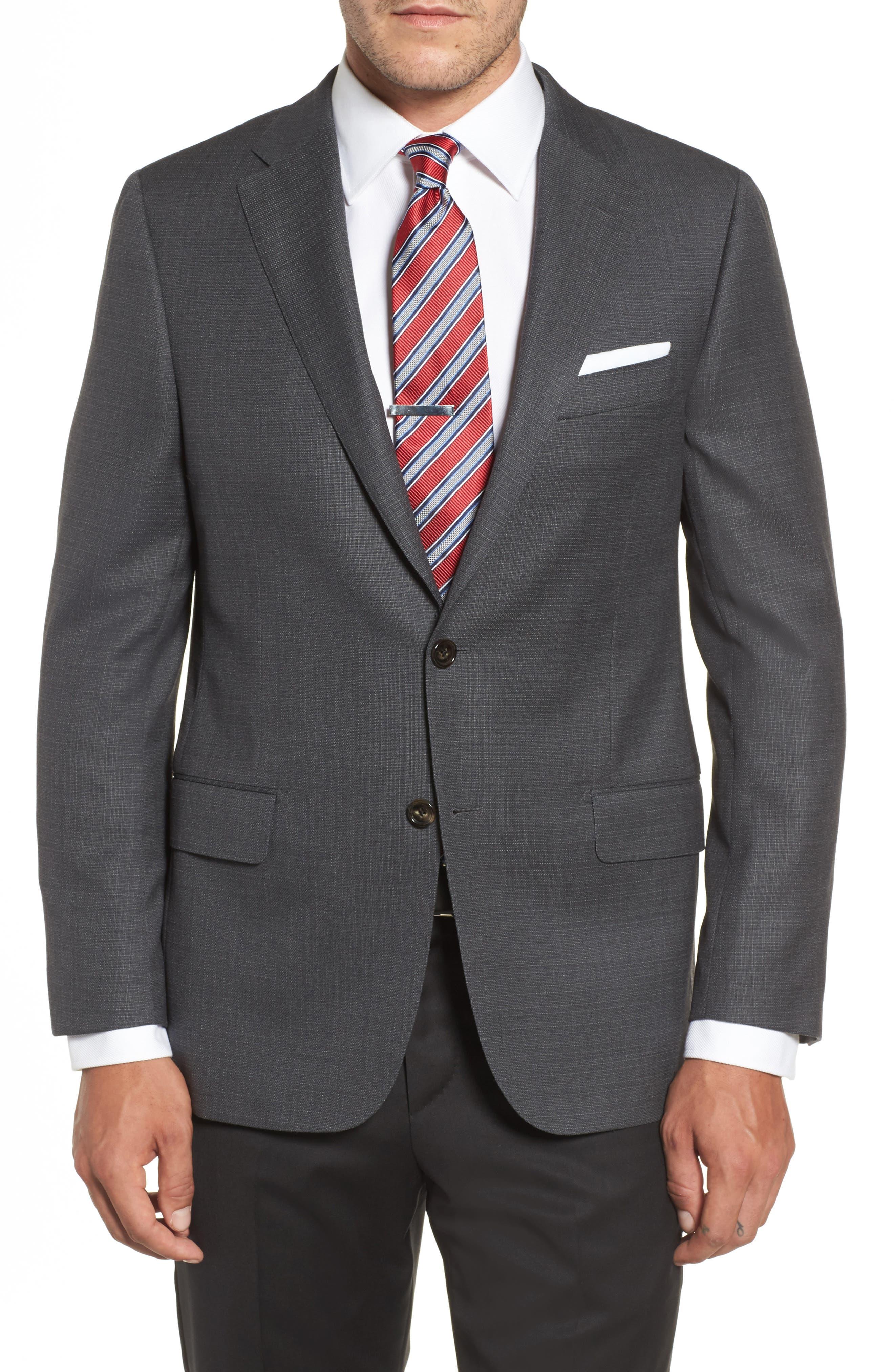 Main Image - Hickey Freeman Classic B Fit Wool Blazer