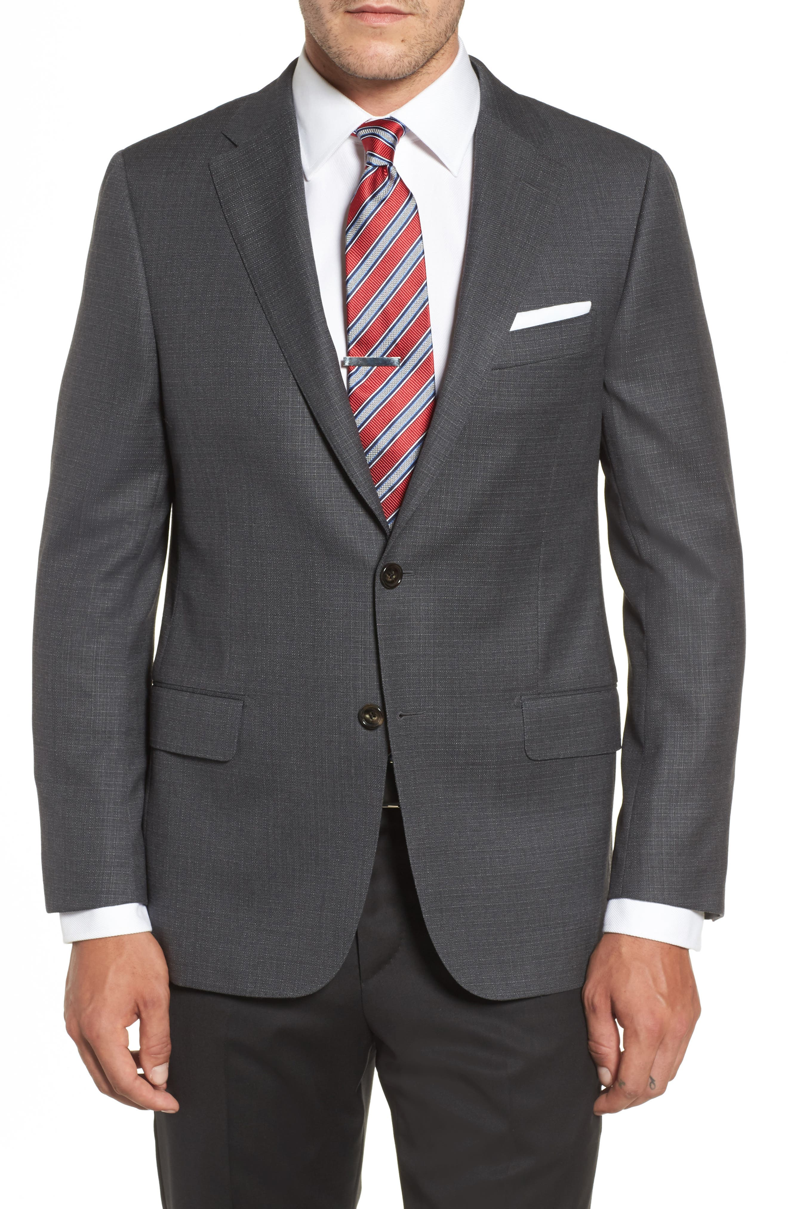 Hickey Freeman Classic B Fit Wool Blazer