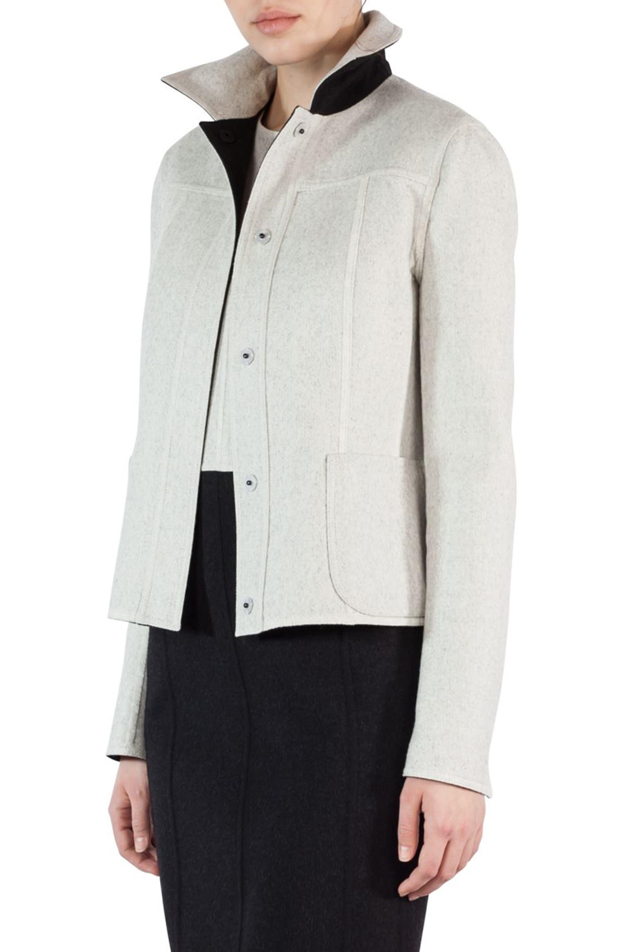 Alternate Image 2  - Akris Double Face Wool Reversible Bicolor Jacket