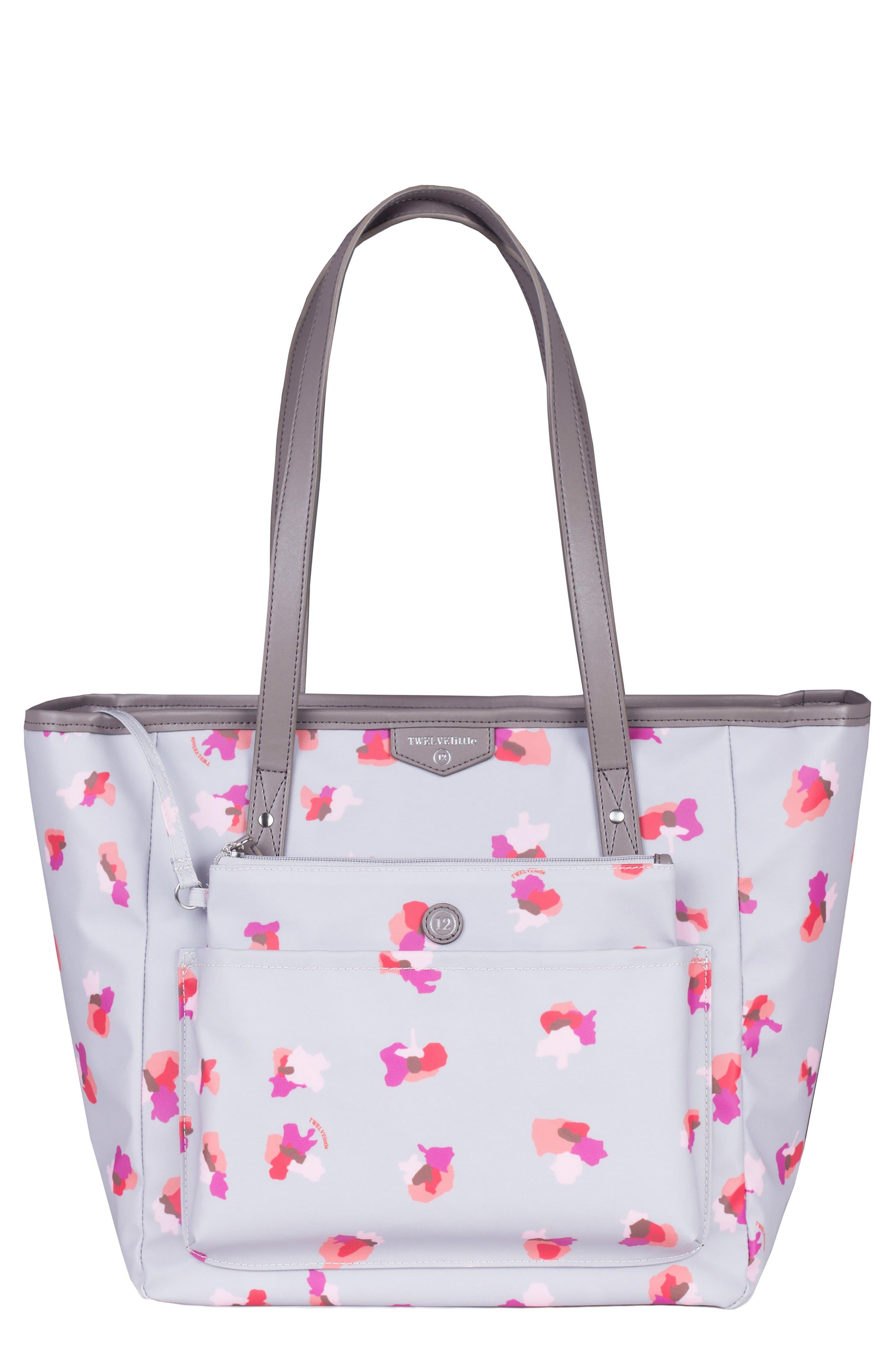 Everyday Diaper Tote Plus,                         Main,                         color, Grey Floral Print