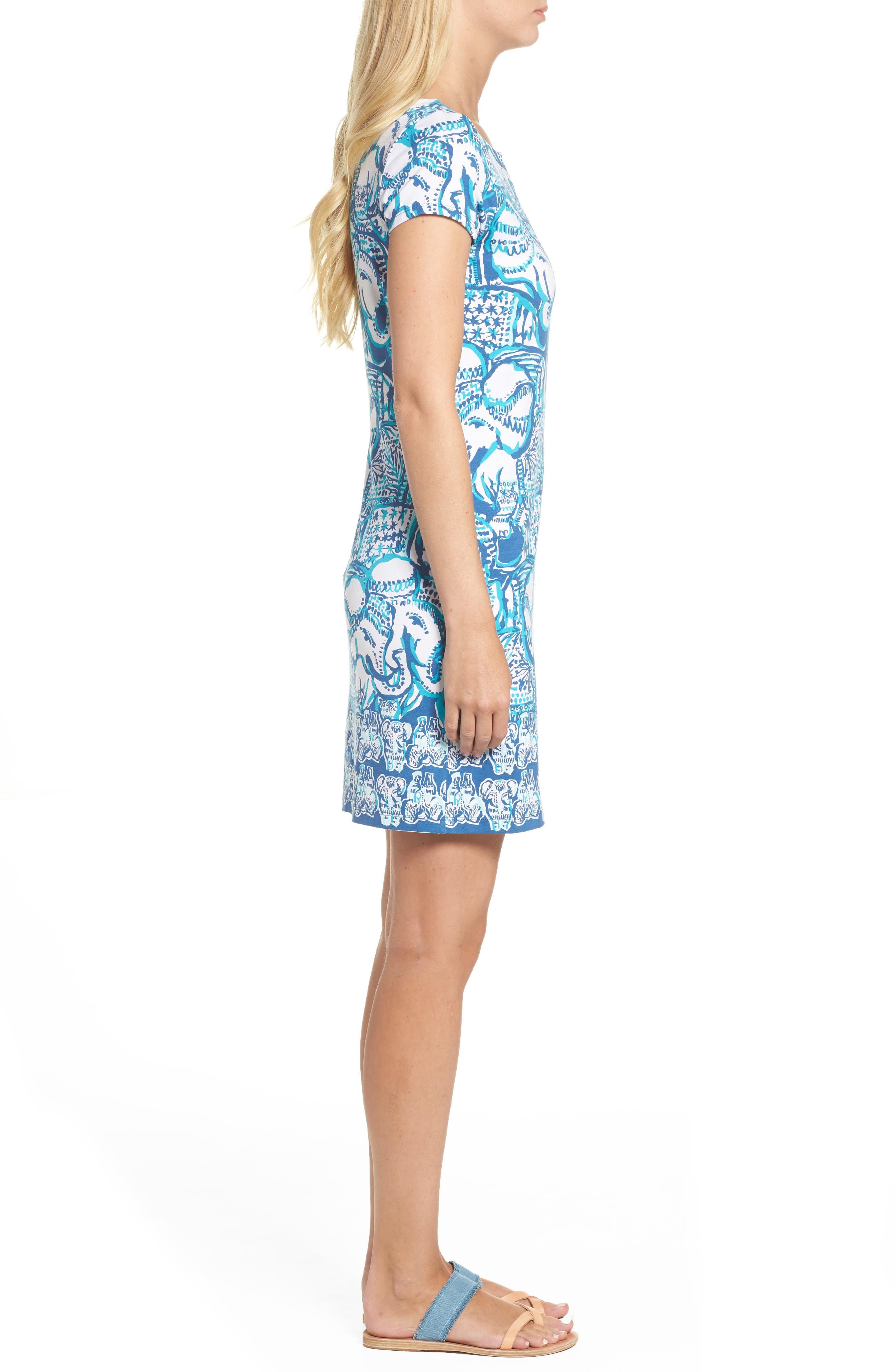 Sophiletta UPF 50+ Dress,                             Alternate thumbnail 3, color,                             Indigo