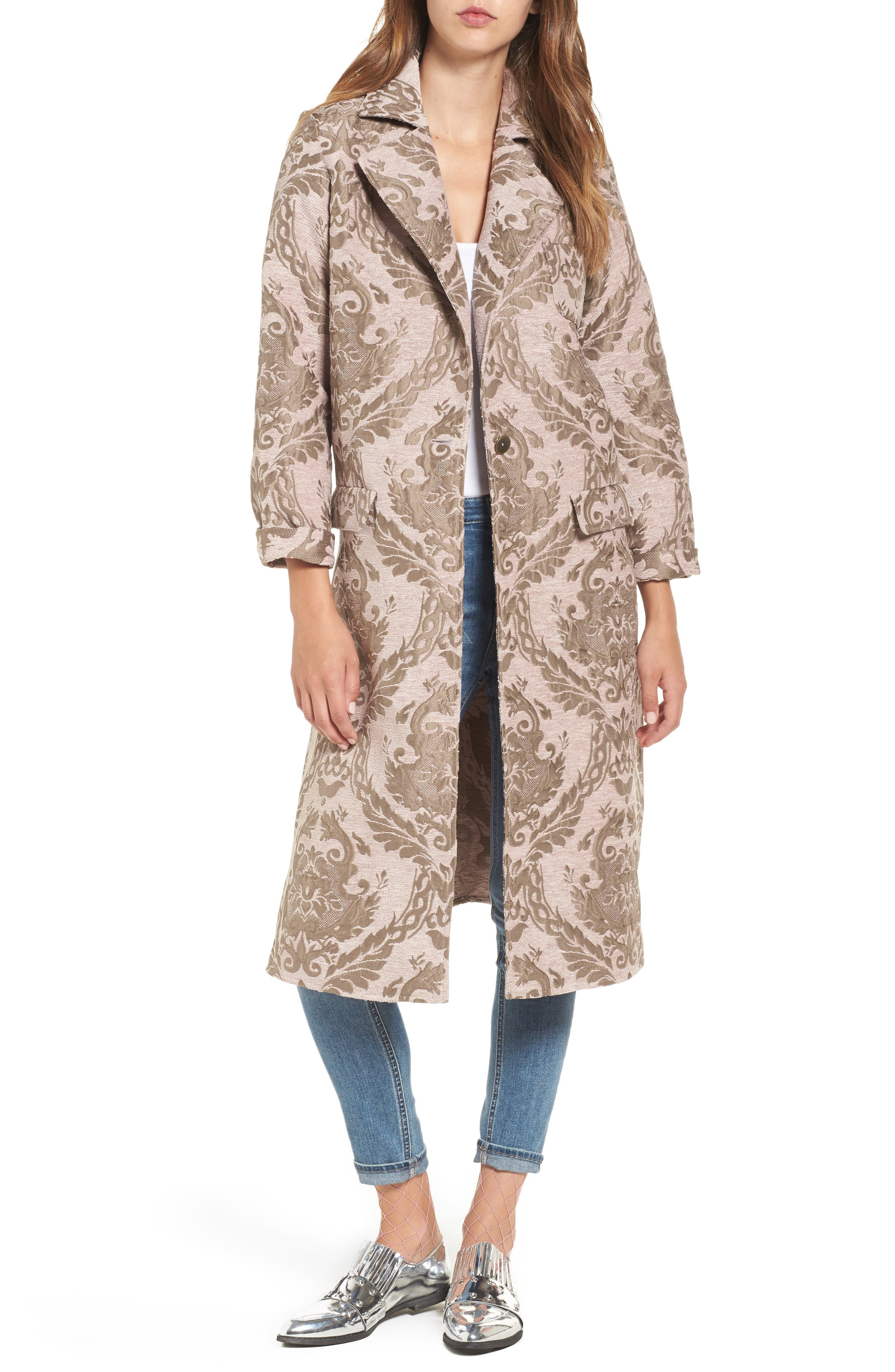 Main Image - Leith Longline Jacquard Jacket