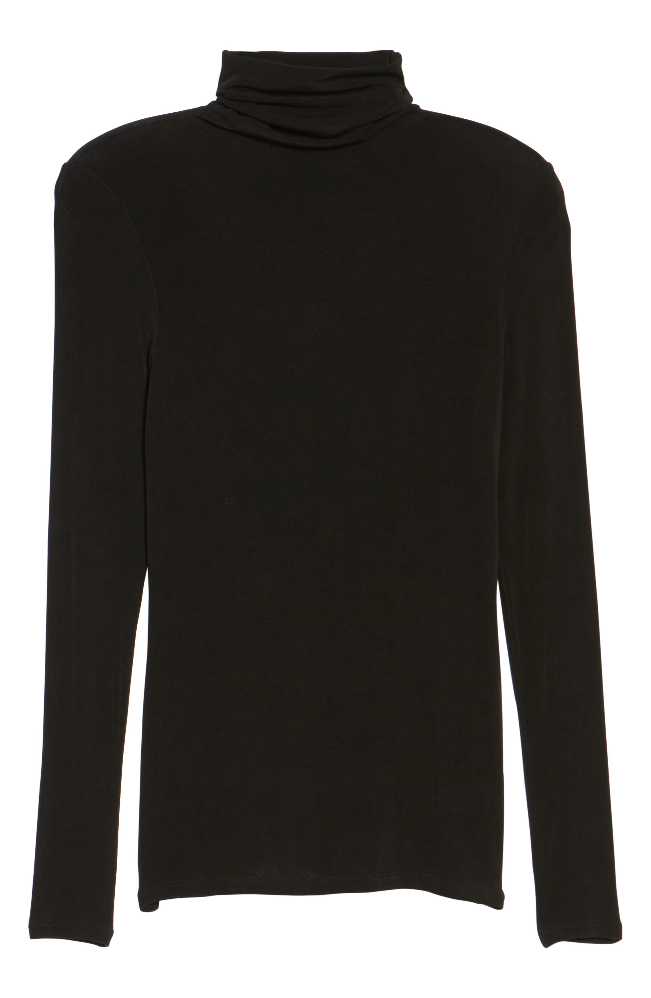 Layering Turtleneck,                             Alternate thumbnail 6, color,                             Black