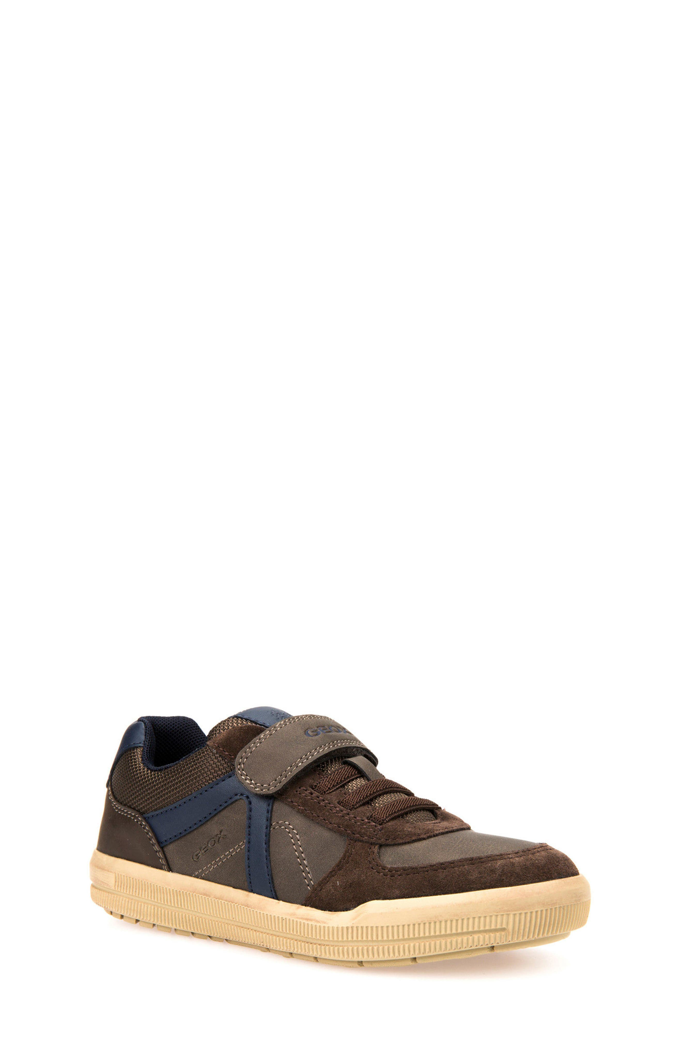 Arzach Low Top Sneaker,                             Main thumbnail 1, color,                             Brown/ Navy