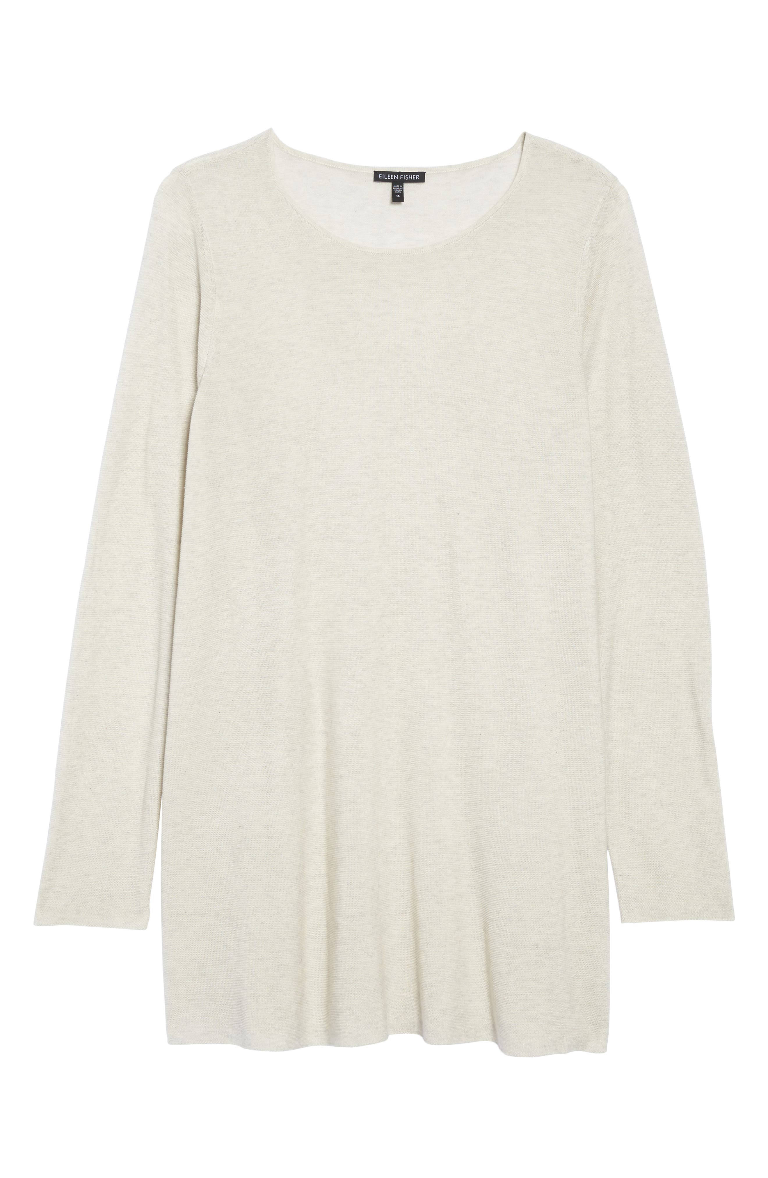 Alternate Image 6  - Eileen Fisher Jewel Neck Tunic Sweater (Plus Size)