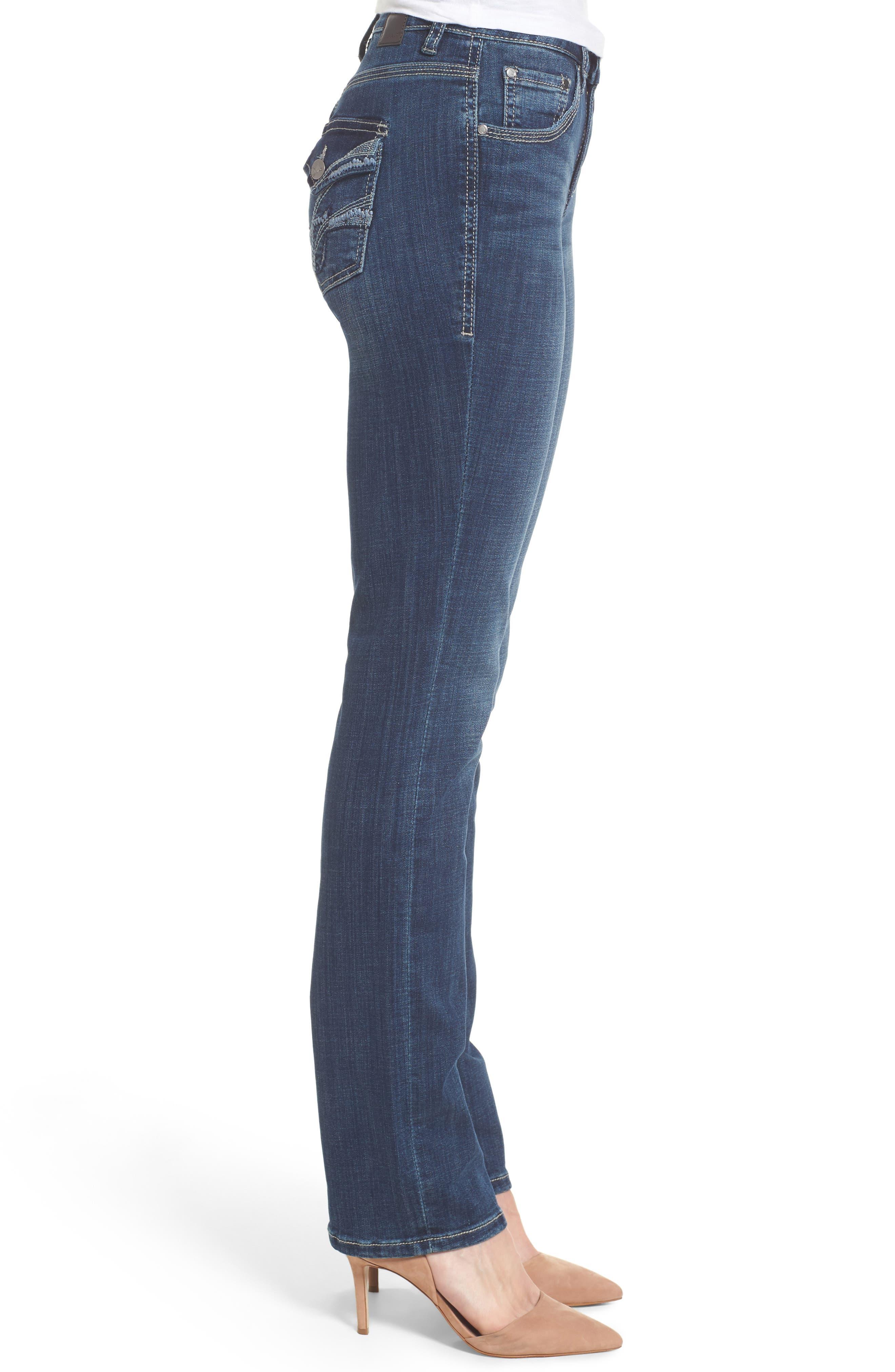 Adrian Straight Leg Jeans,                             Alternate thumbnail 3, color,                             Thorne Blue