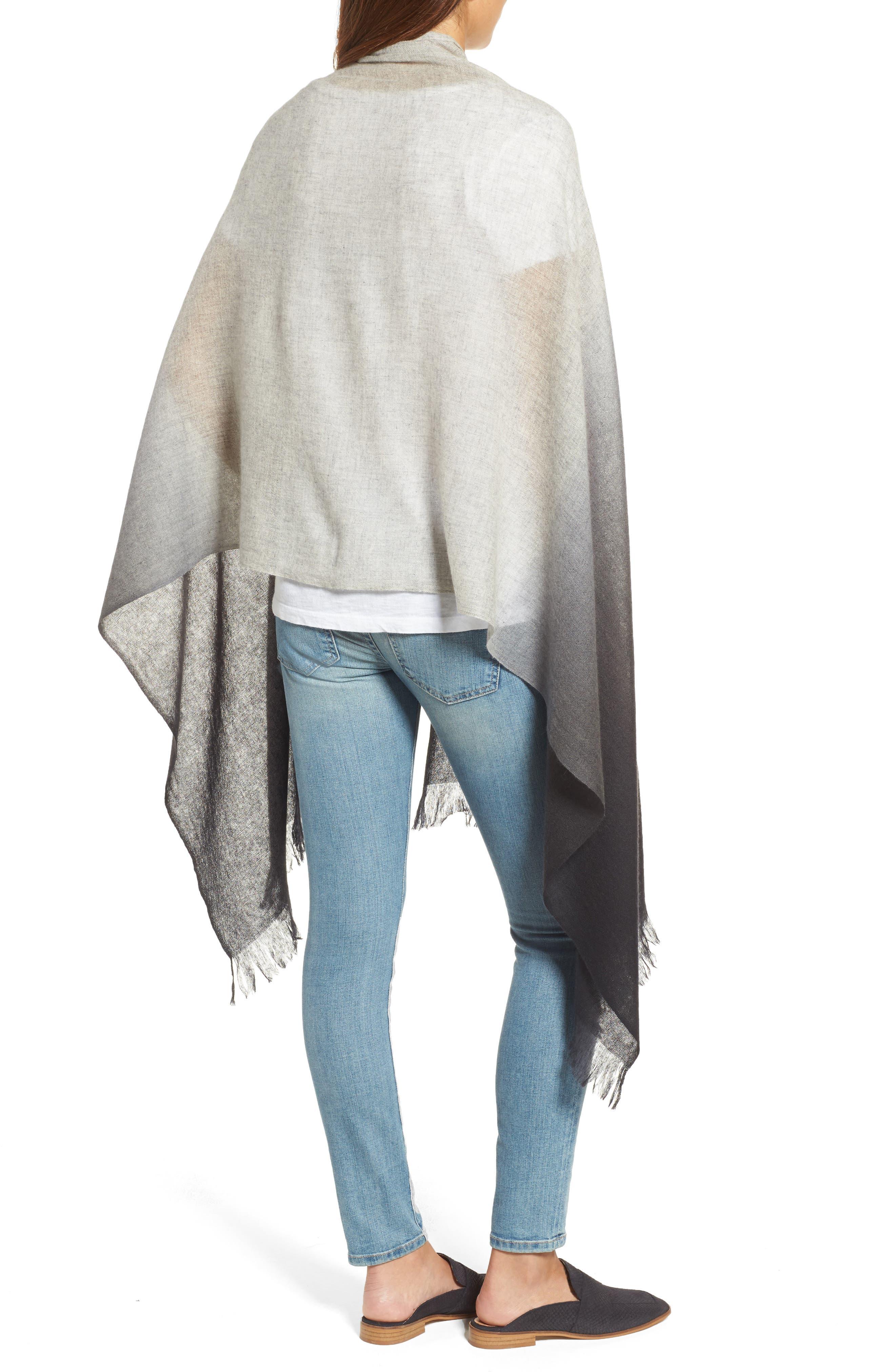 Alternate Image 2  - Caslon Dip Dye Cashmere Wrap