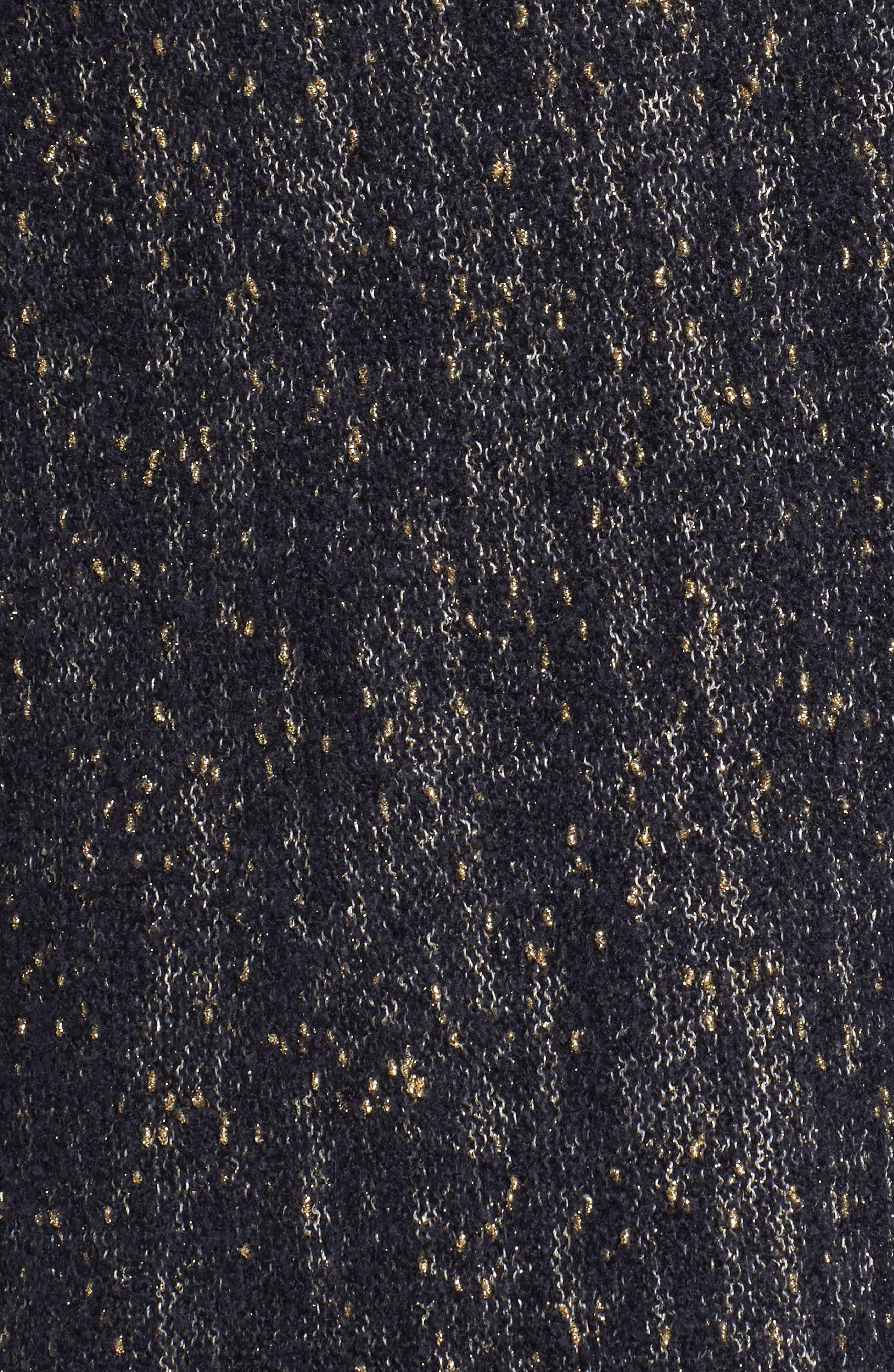 Alternate Image 5  - Lafayette 148 Metallic Knit A-Line Sweater (Plus Size)