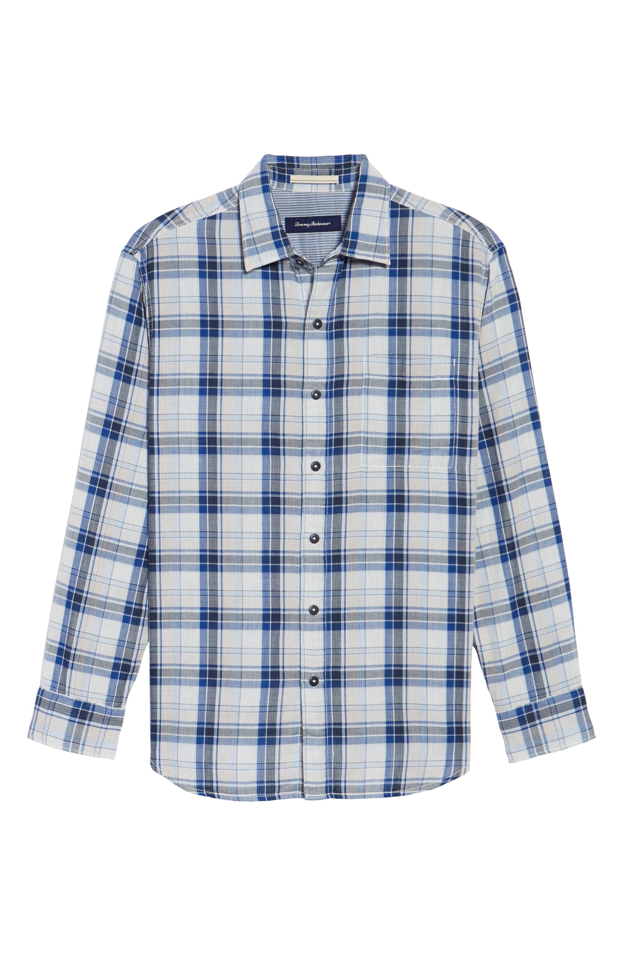 Alternate Image 6  - Tommy Bahama Aladdin Standard Fit Plaid Sport Shirt