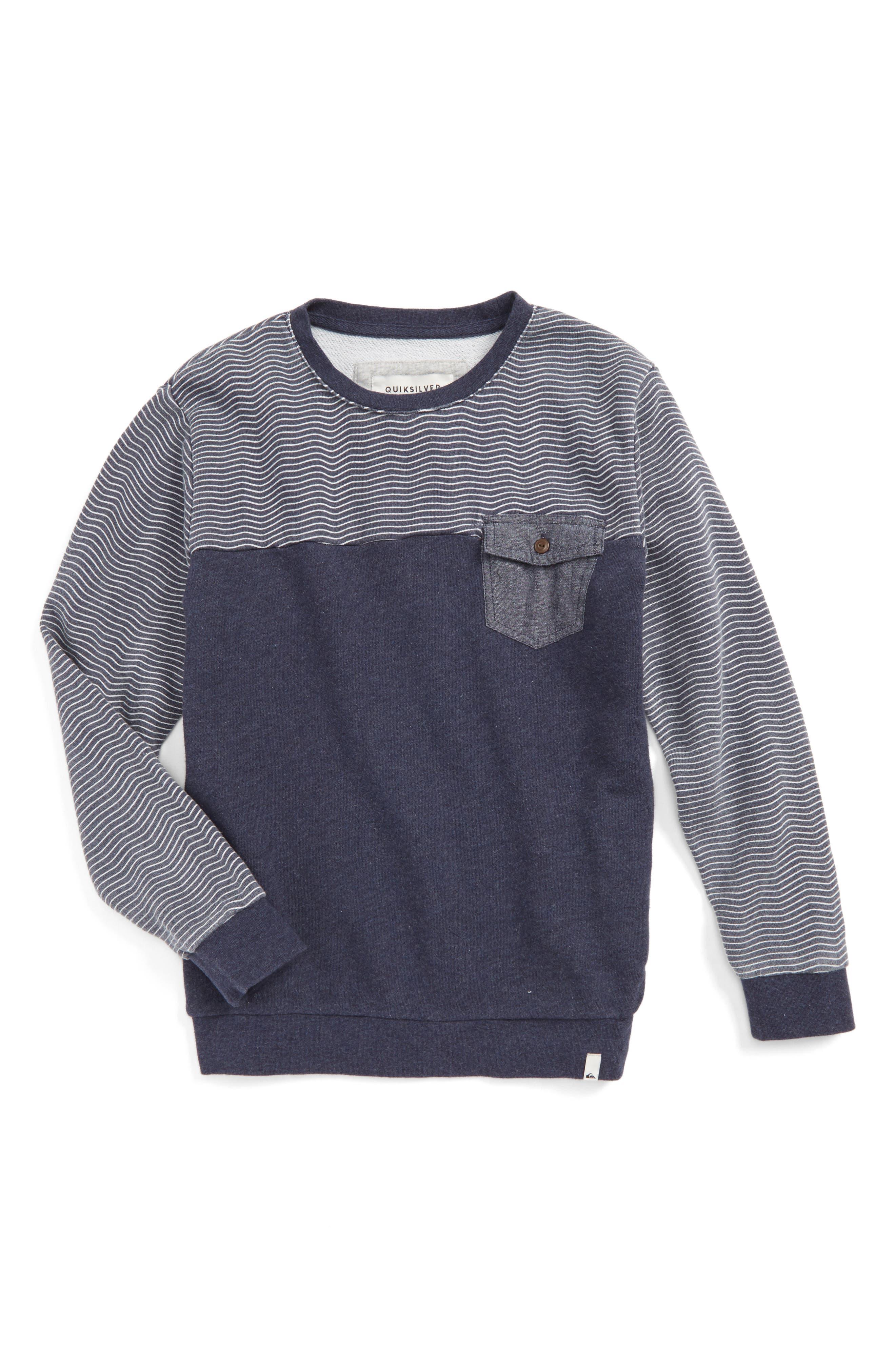 Quiksilver Mahatao French Terry Sweatshirt (Big Boys)