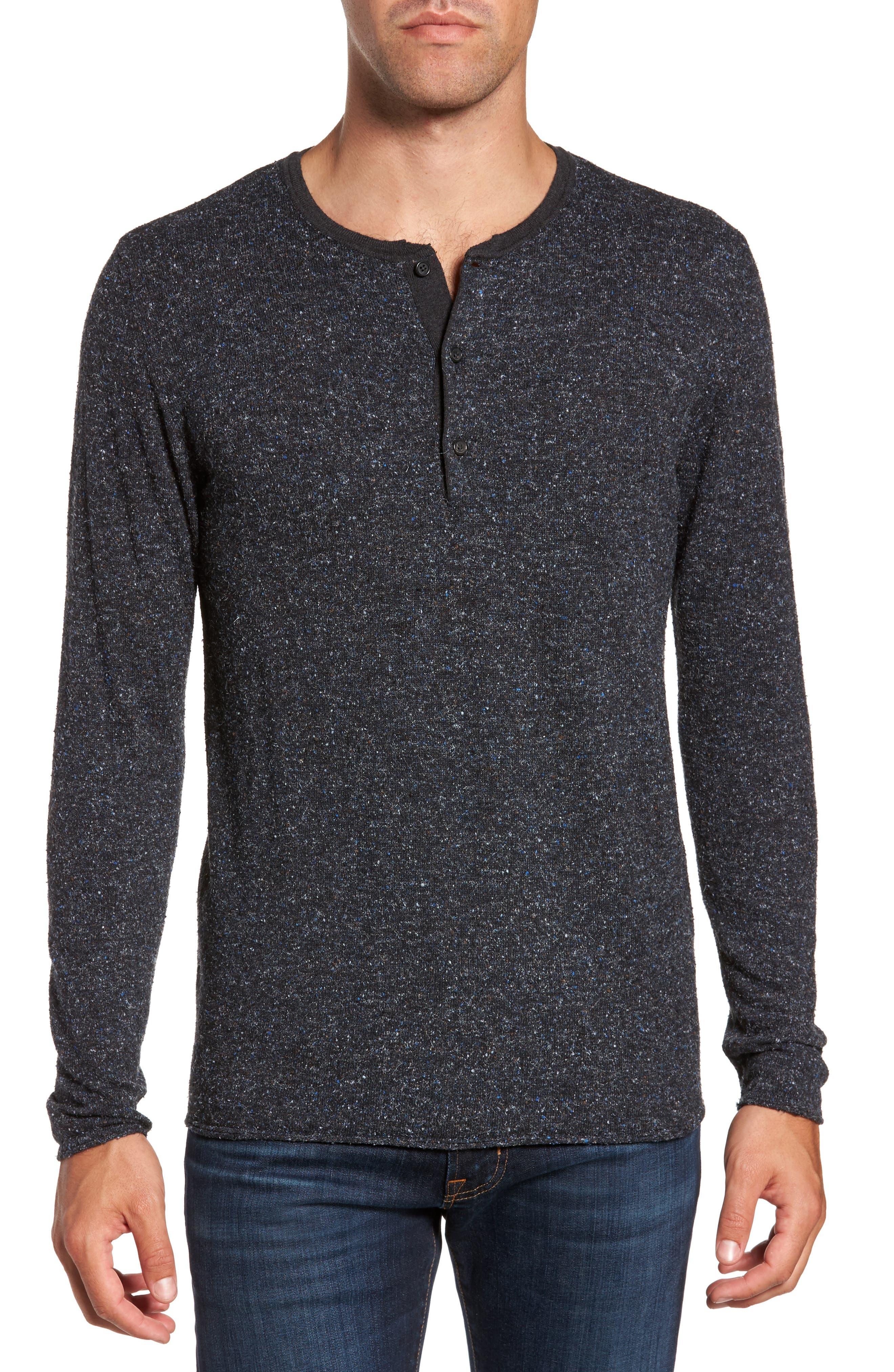 Billy Reid Speckled Henley Sweater