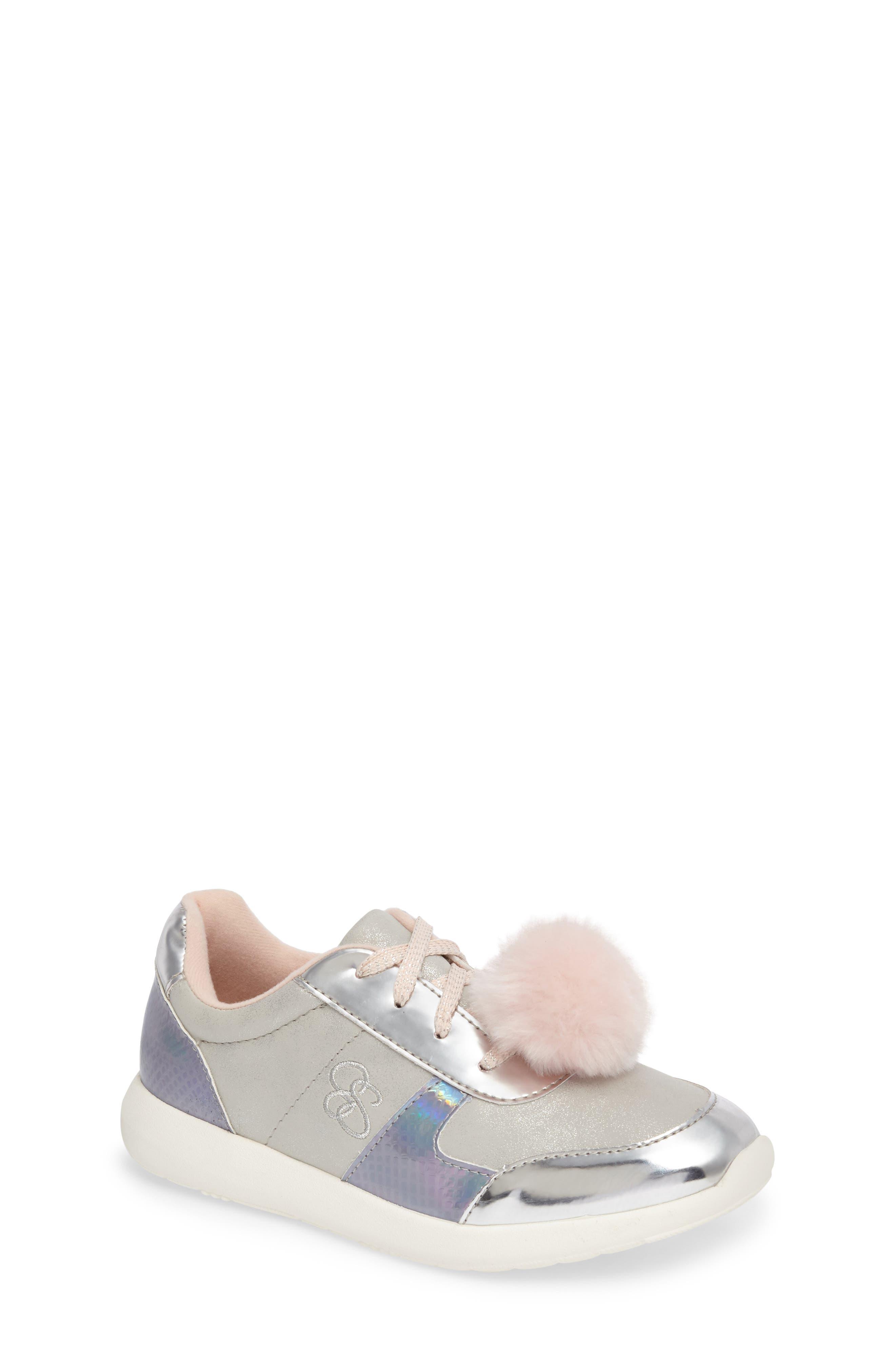 Jessica Simpson Deuce Faux Fur Pom Sneaker (Toddler, Little Kid & Big Kid)