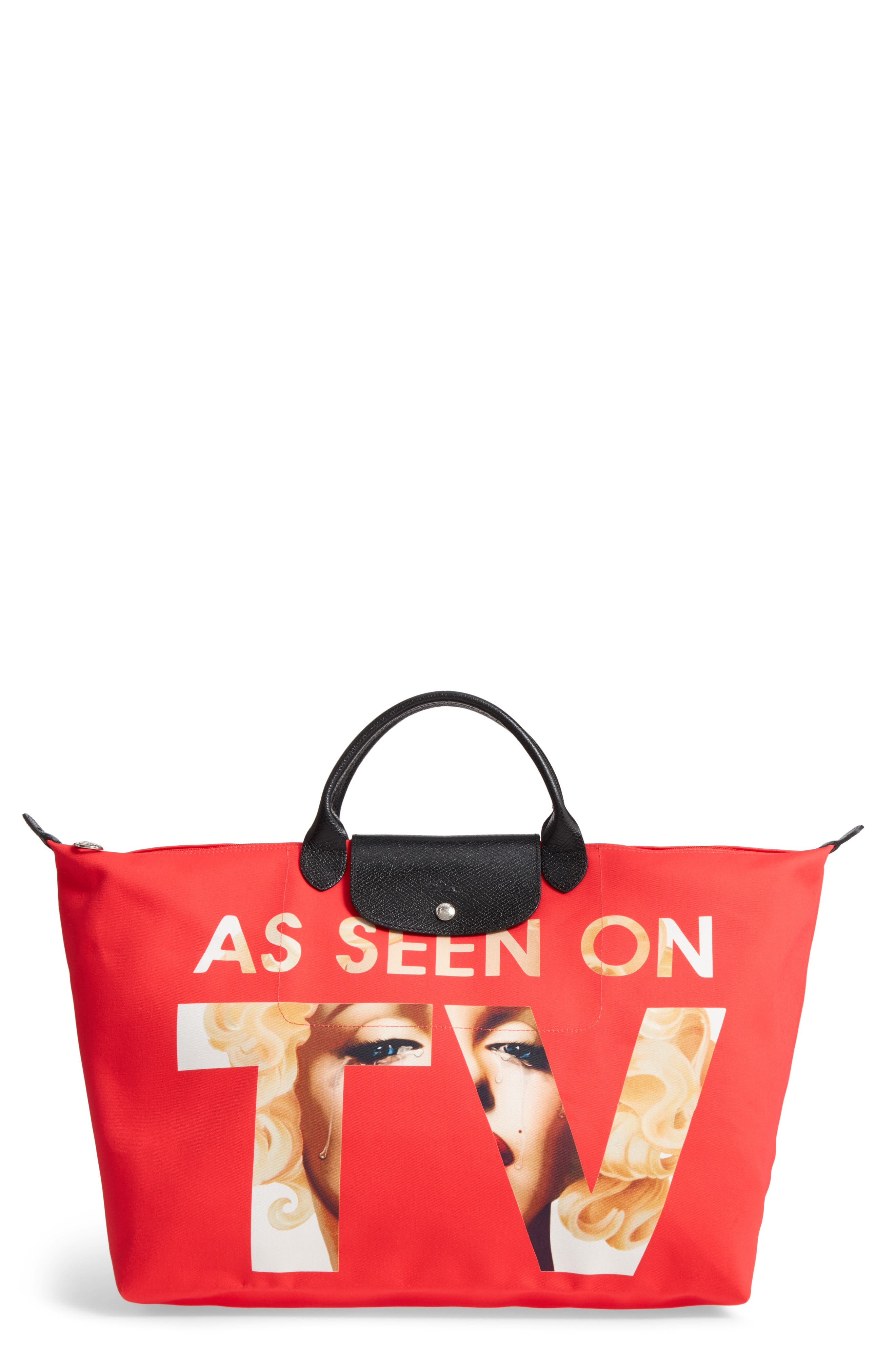 x Jeremy Scott As Seen on TV Tote,                             Main thumbnail 1, color,                             Red