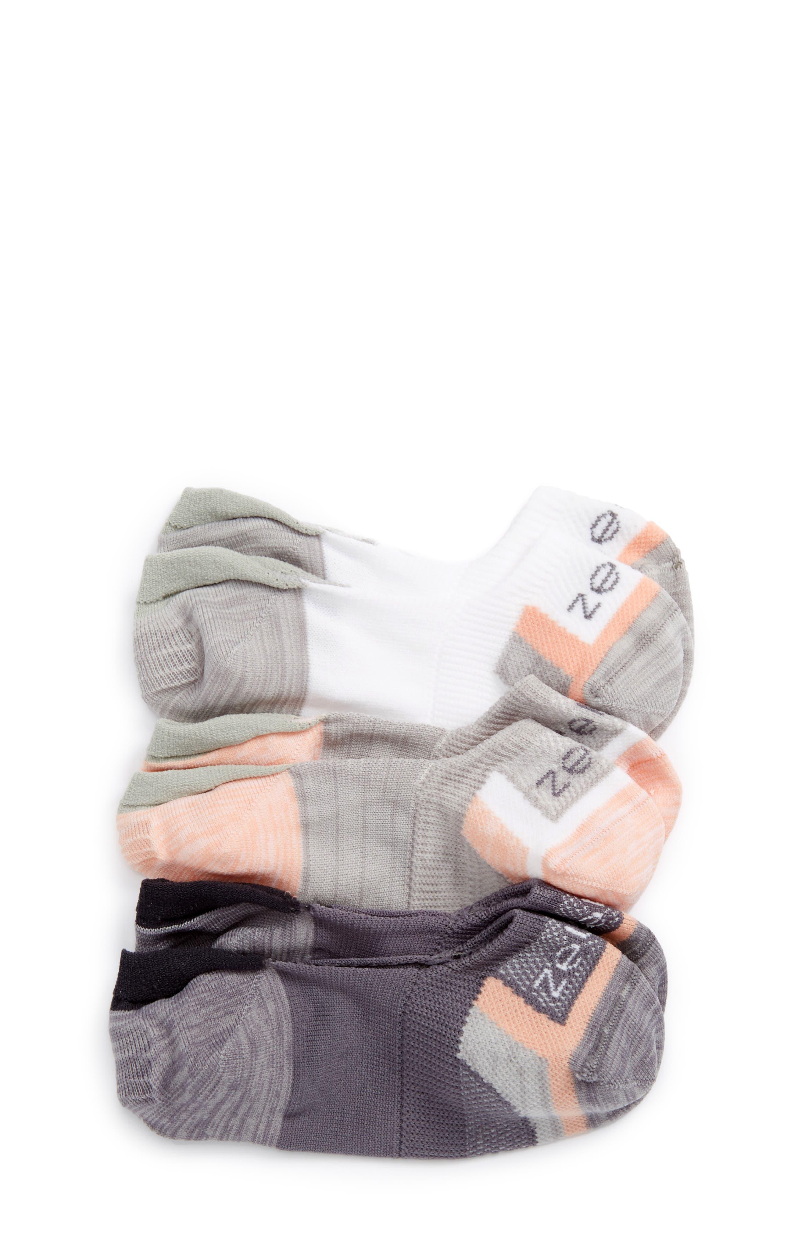 Alternate Image 1 Selected - Zella Girl Secret 3-Pack No-Show Socks (Toddler, Little Kid & Big Kid)