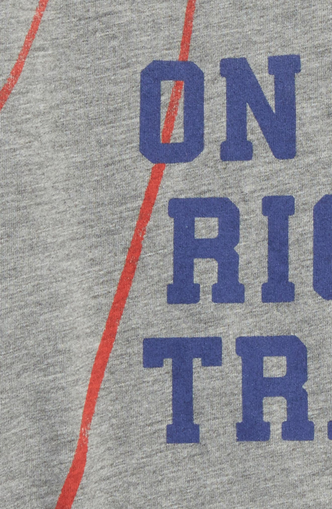 On the Right Track Graphic T-Shirt,                             Alternate thumbnail 2, color,                             Grey