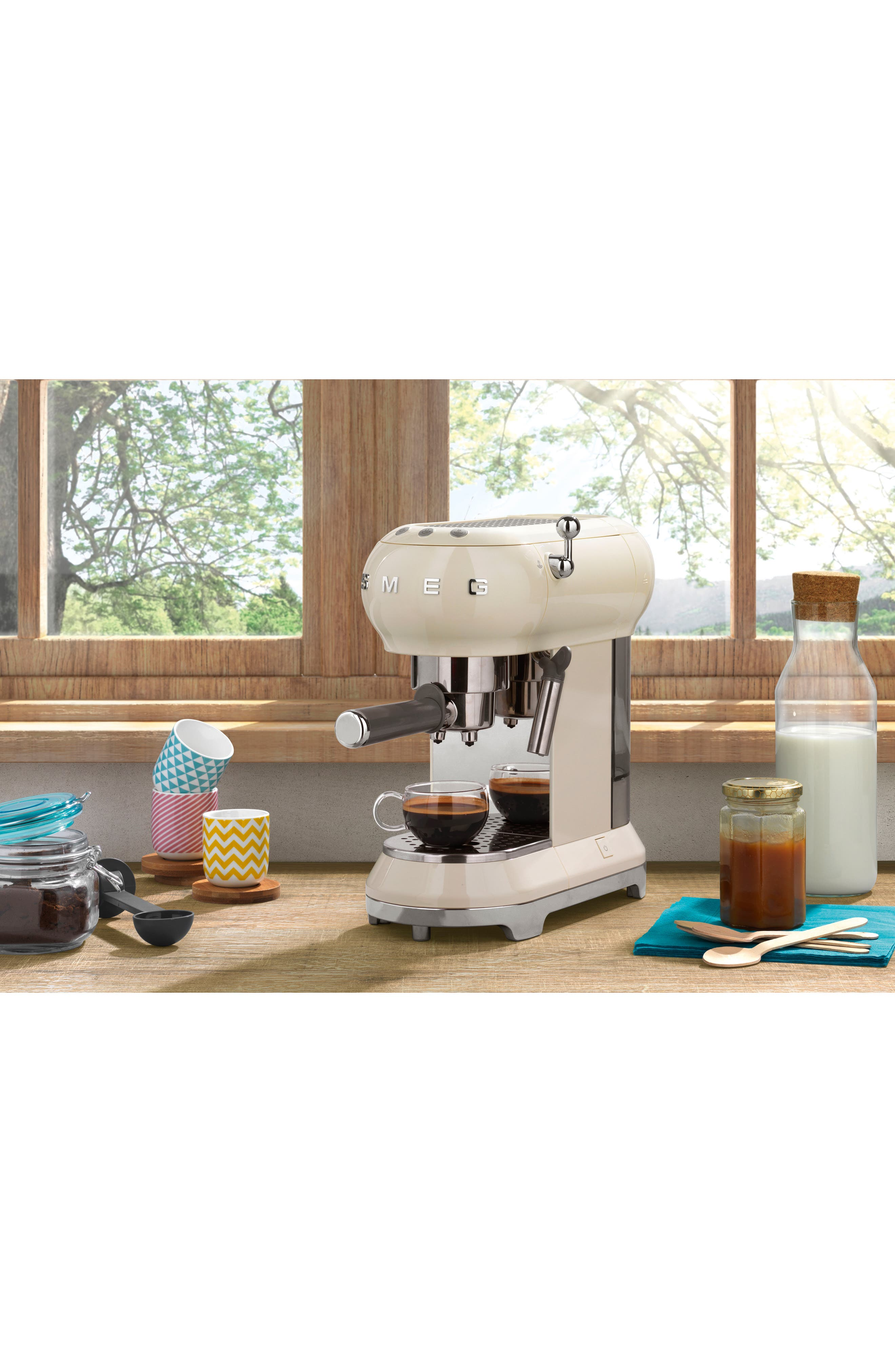 '50s Retro Style Espresso Coffee Machine,                             Alternate thumbnail 3, color,