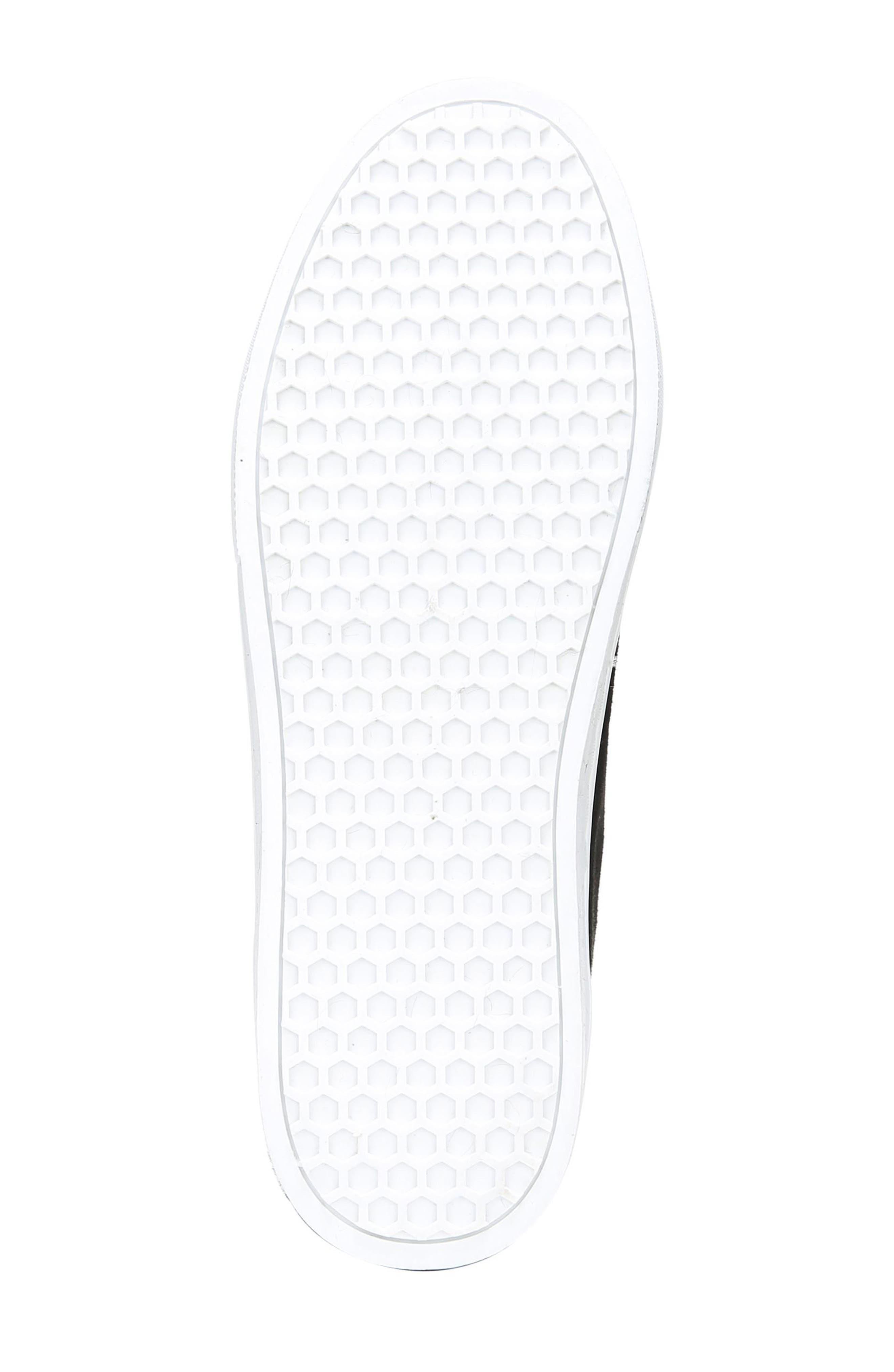 Lear Faux Fur Sneaker,                             Alternate thumbnail 7, color,                             Black Suede