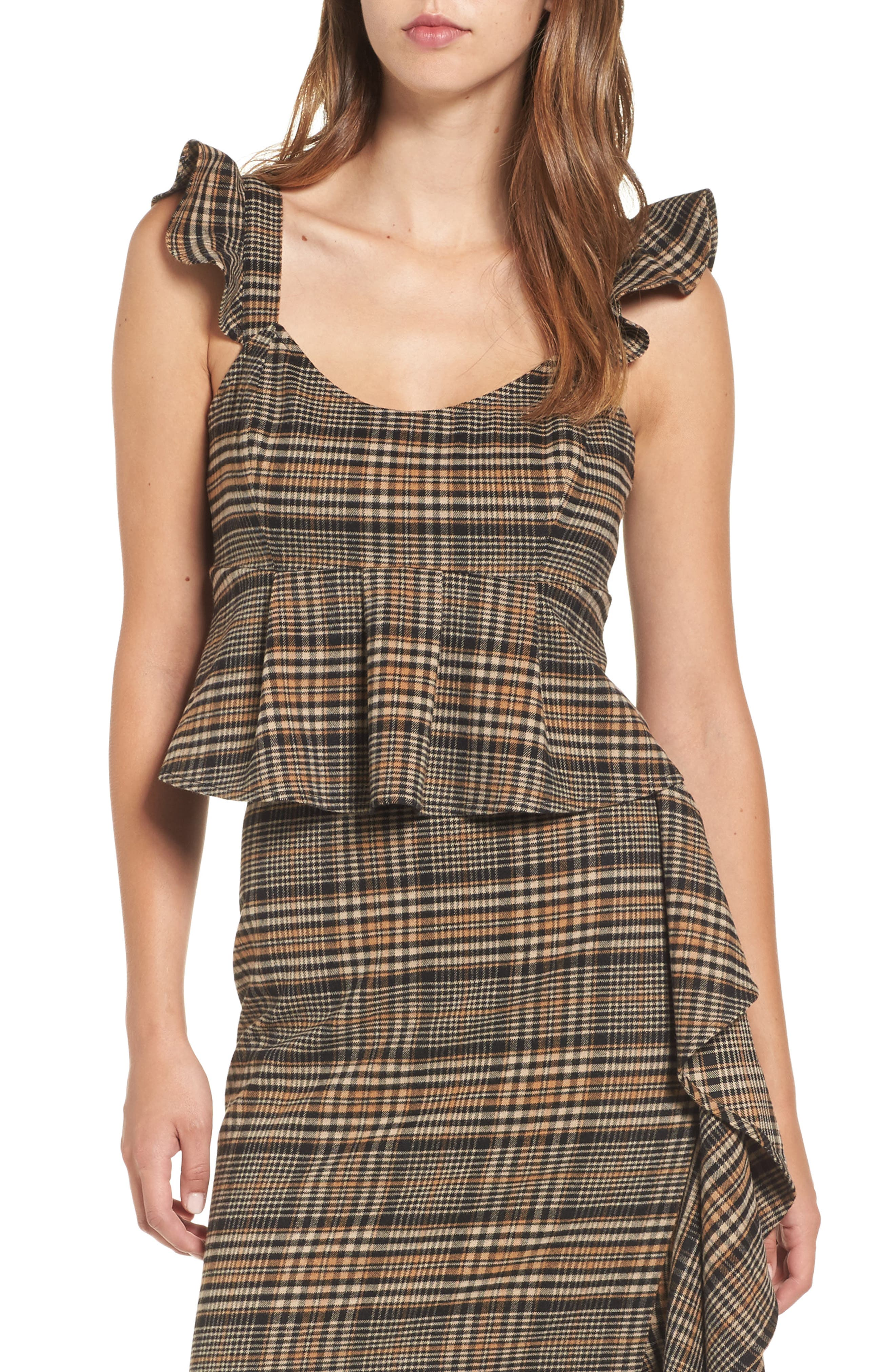 Leith Plaid Crop Top