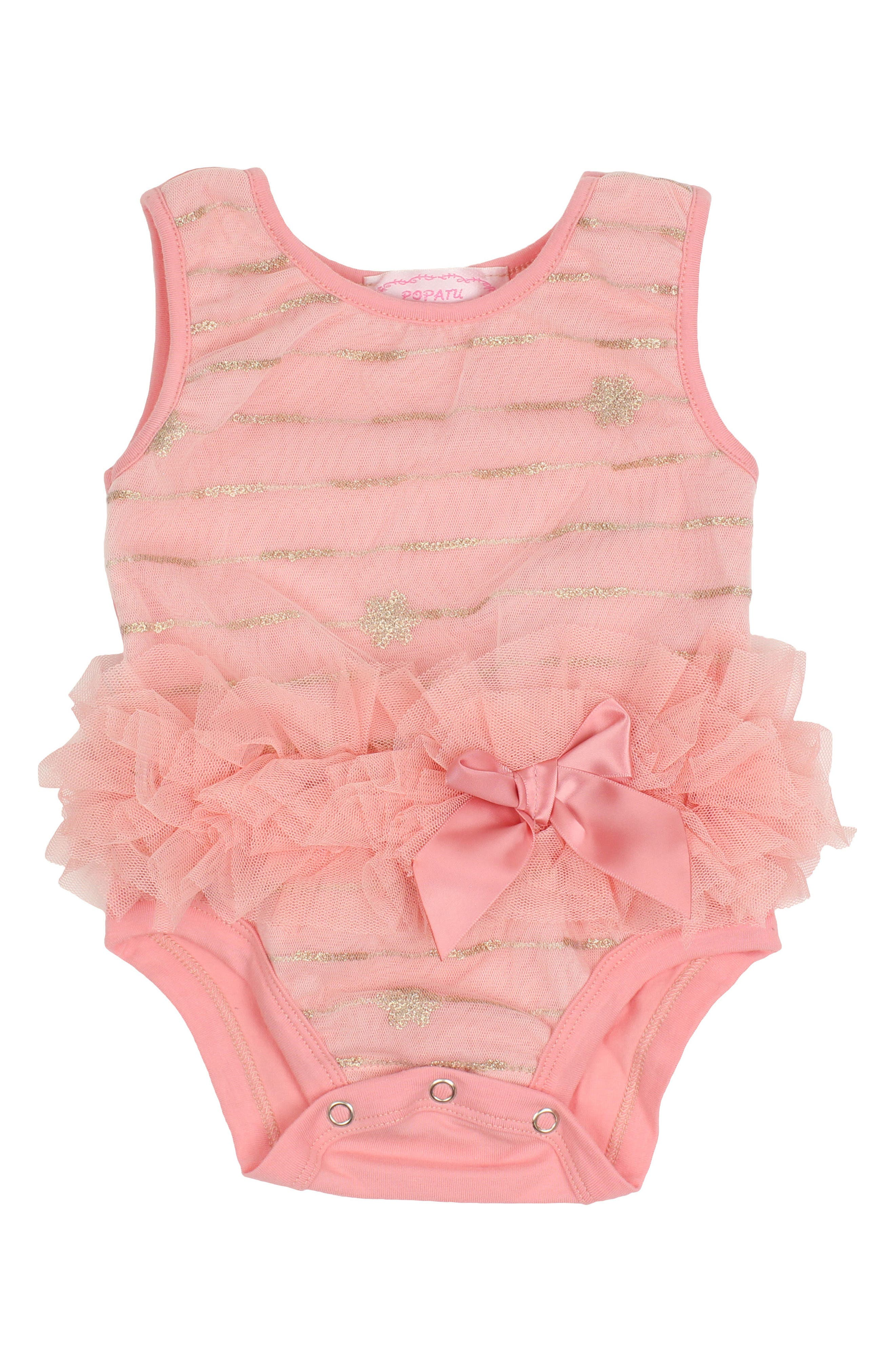 Popatu Sequin Star Bodysuit (Baby Girls)
