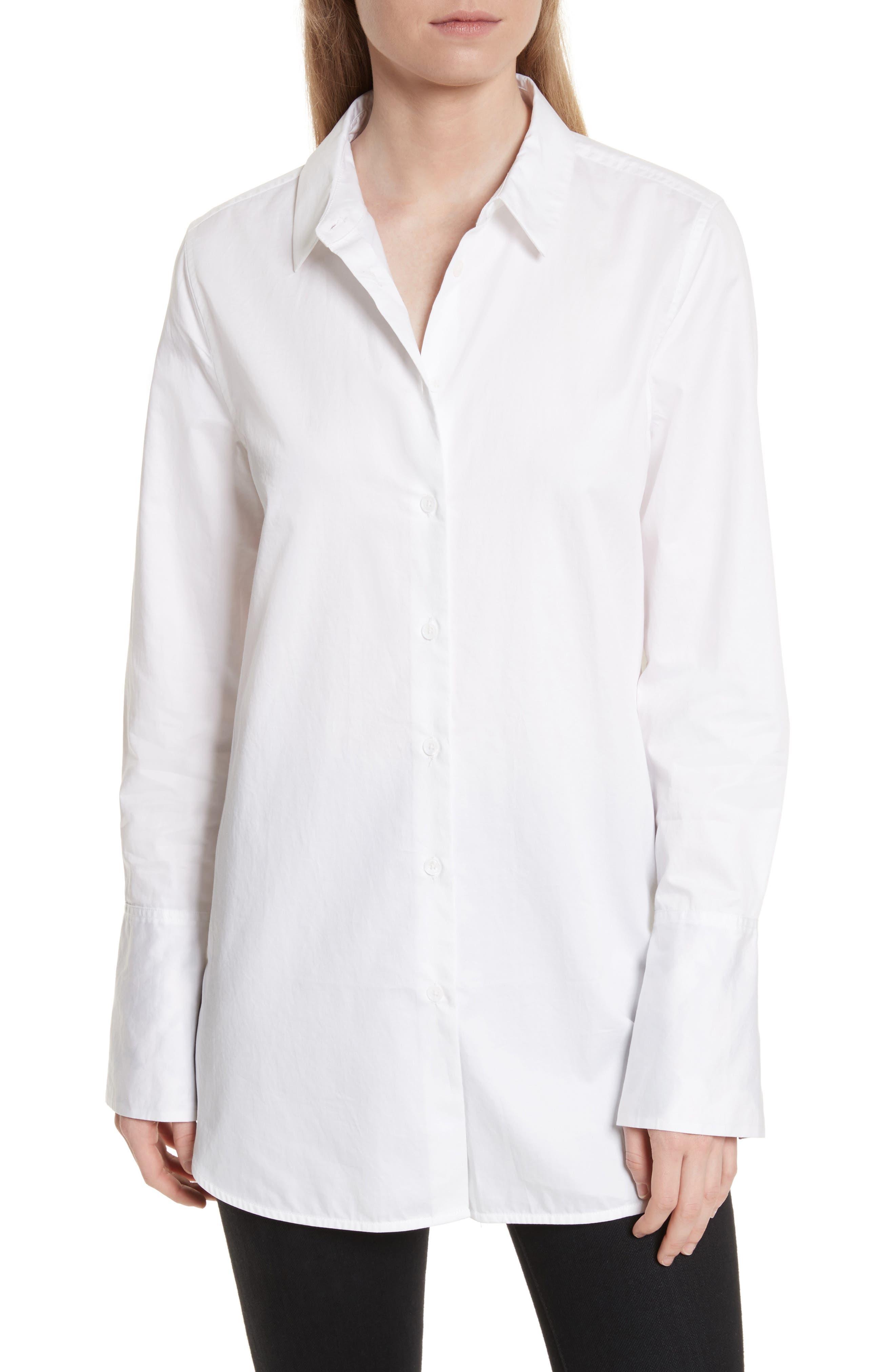 Arlette Cotton Shirt,                         Main,                         color, Bright White