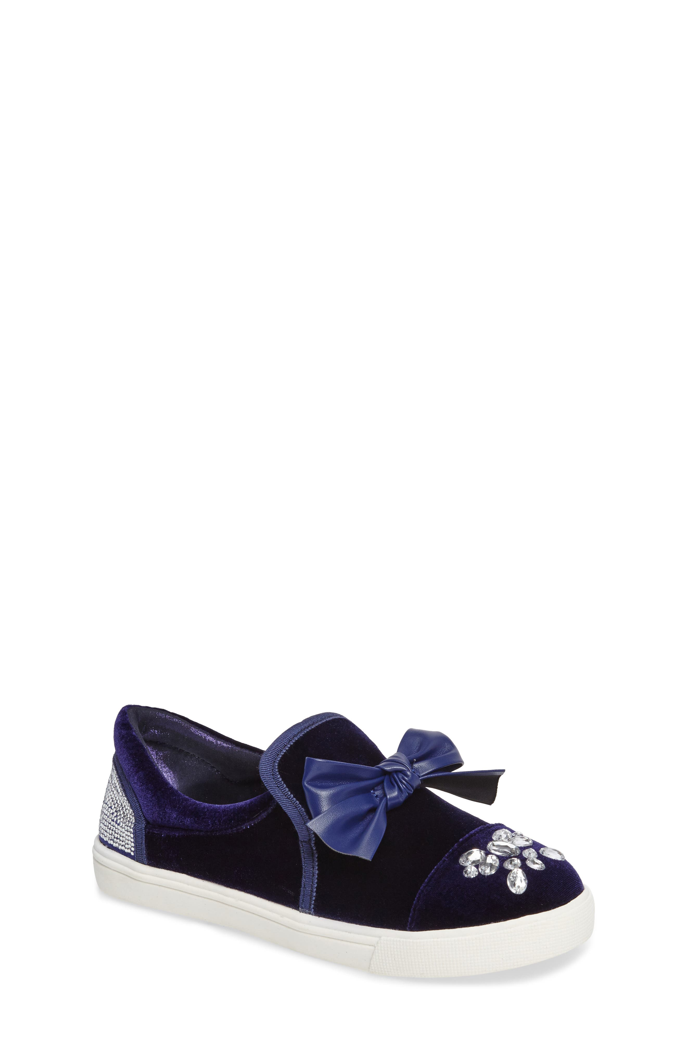 Alternate Image 1 Selected - Badgley Mischka Delight Embellished Slip-On Sneaker (Toddler, Little Kid & Big Kid)