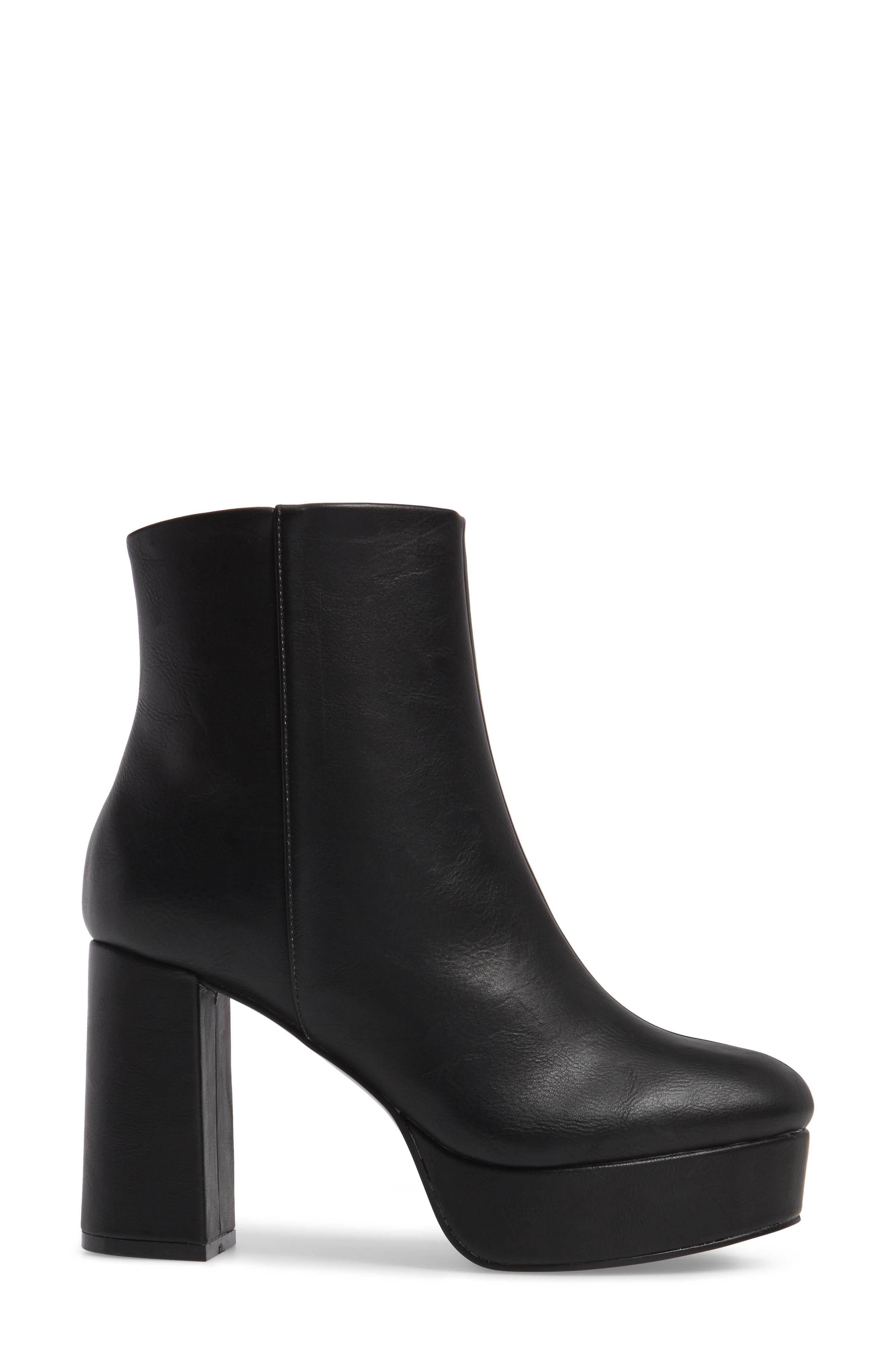 Nenna Platform Bootie,                             Alternate thumbnail 3, color,                             Black