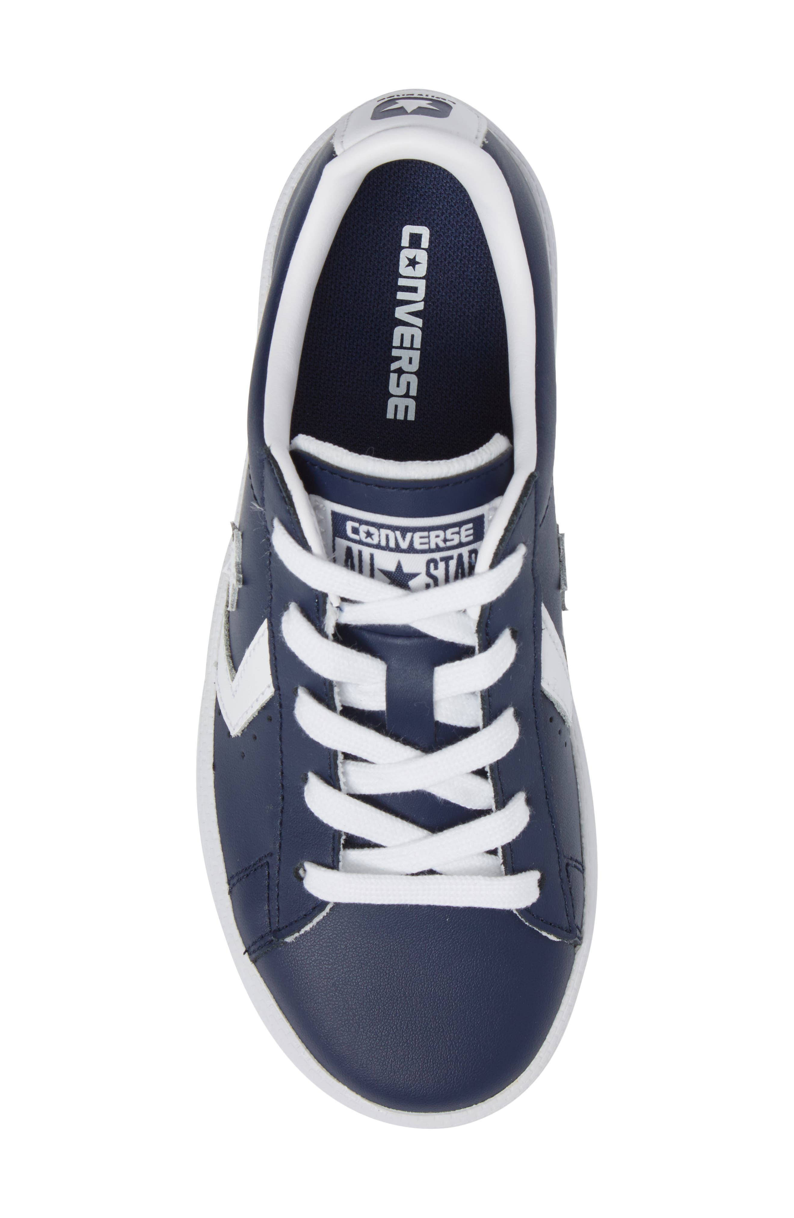 Alternate Image 6  - Converse All Star® Pro Leather Low Top Sneaker (Toddler & Little Kid)