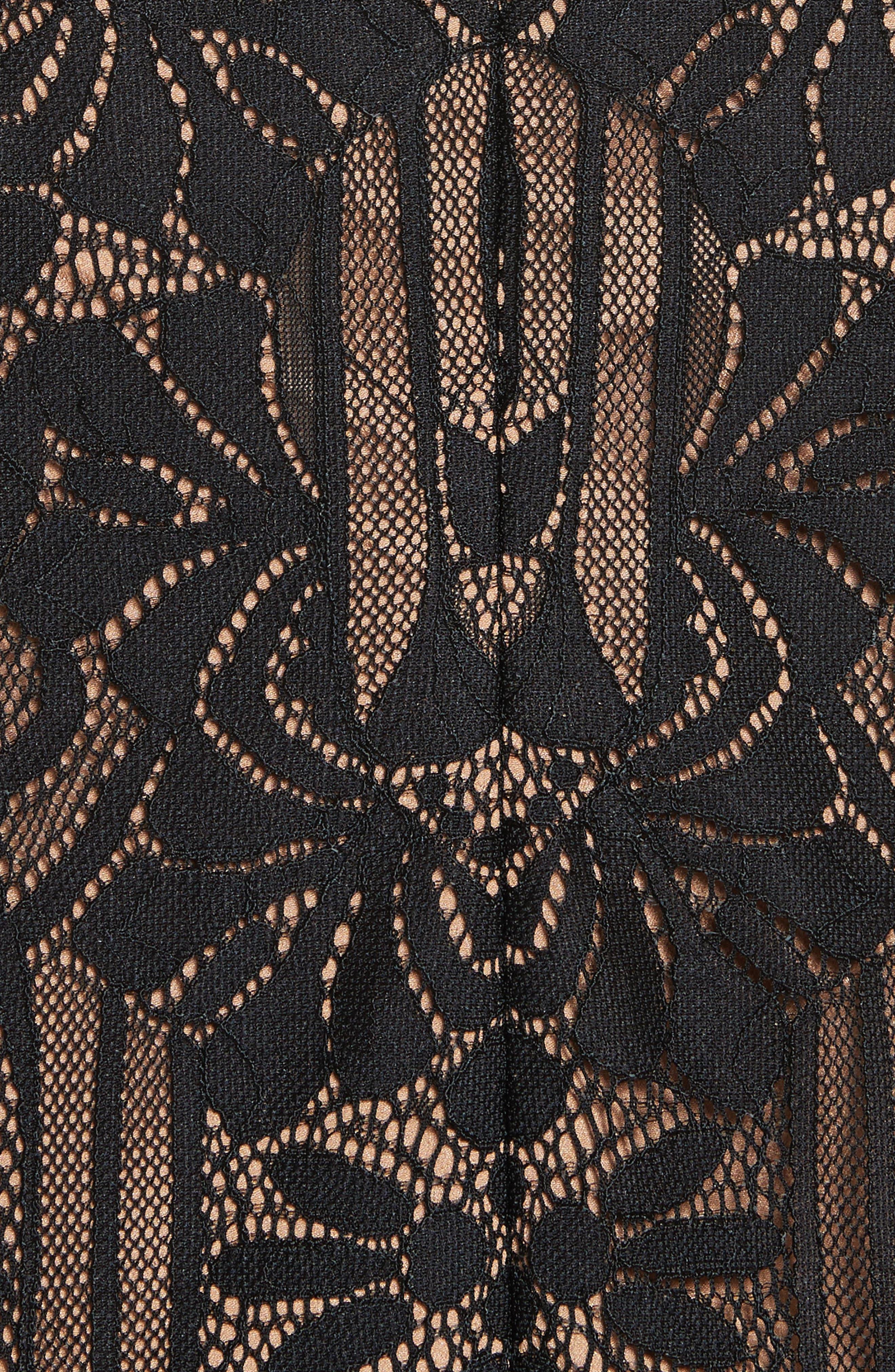 Alternate Image 5  - Jonathan Simkhai Tower Mesh Lace Ruffle Minidress