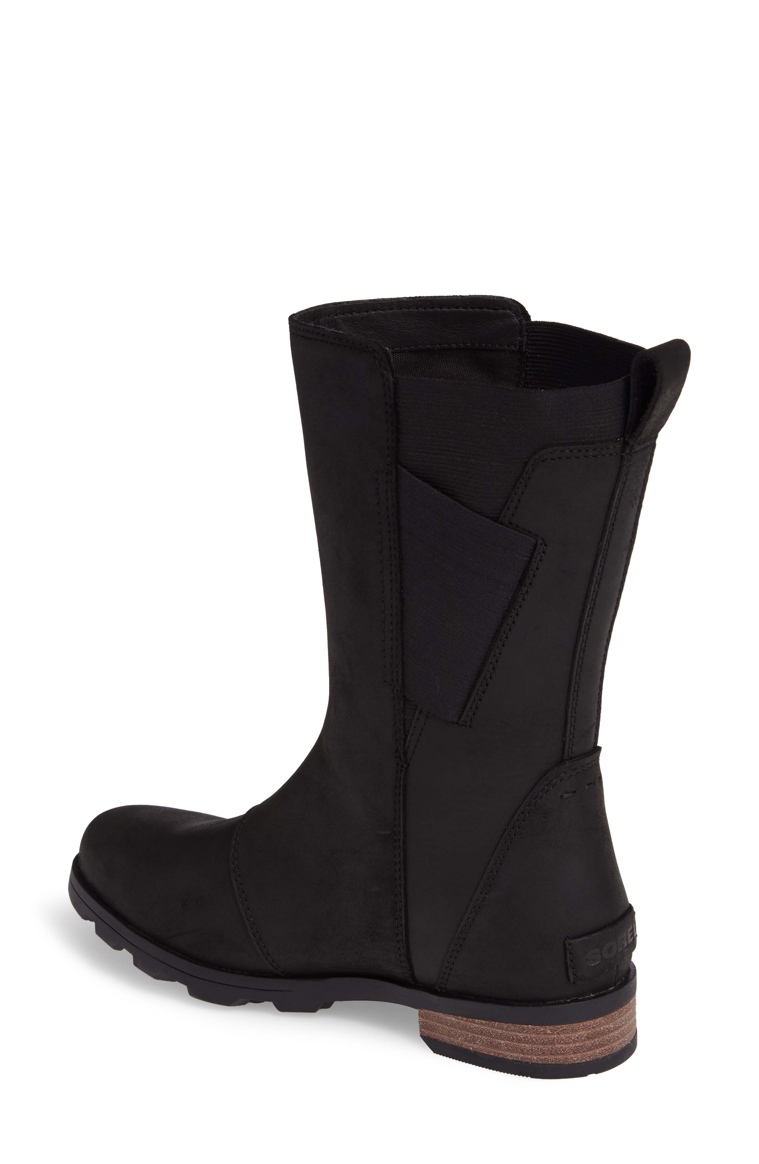Emelie Waterproof Boot,                             Alternate thumbnail 2, color,                             Black