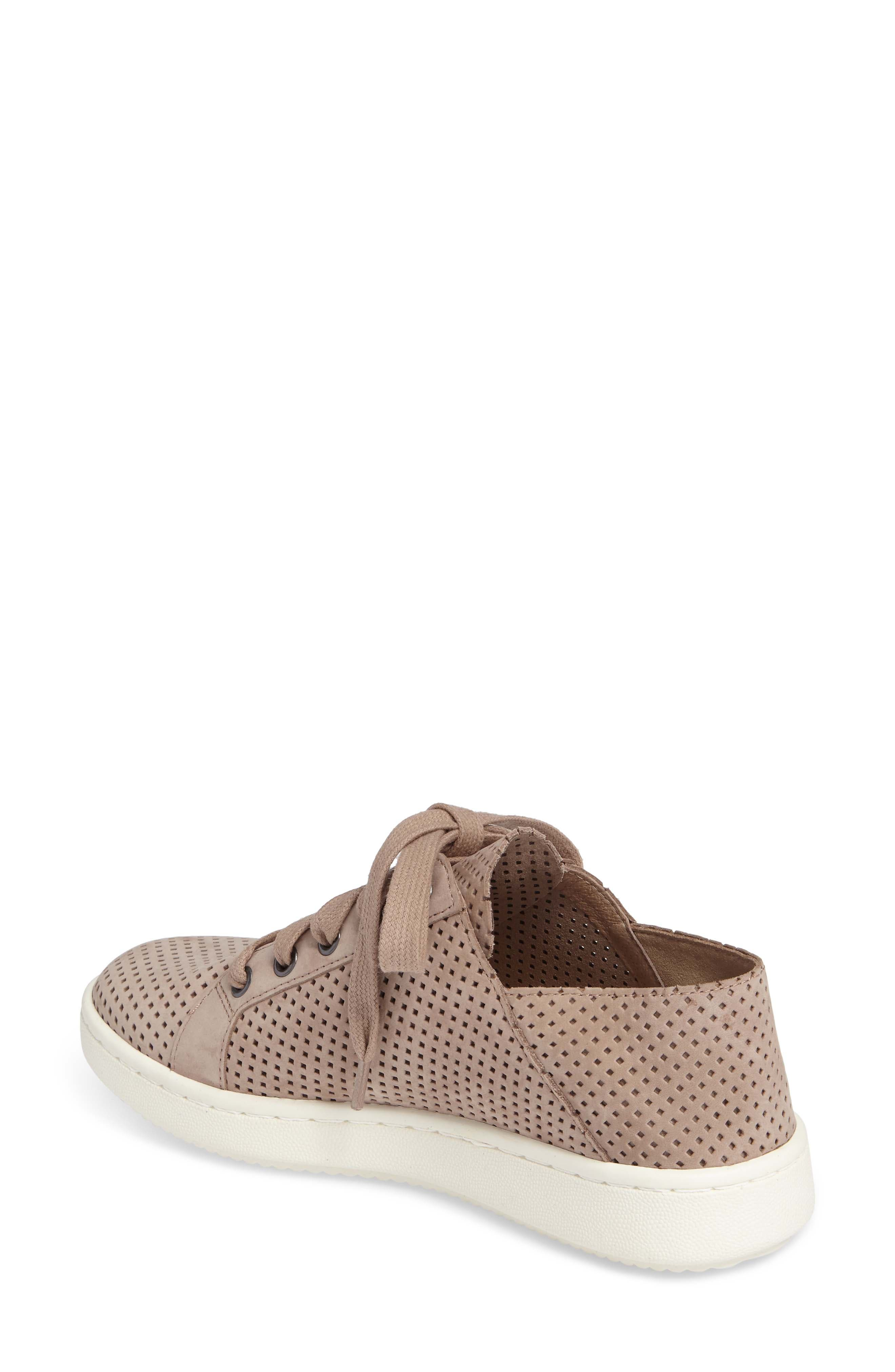 Clifton Perforated Sneaker,                             Alternate thumbnail 2, color,                             Earth Perforated Leather