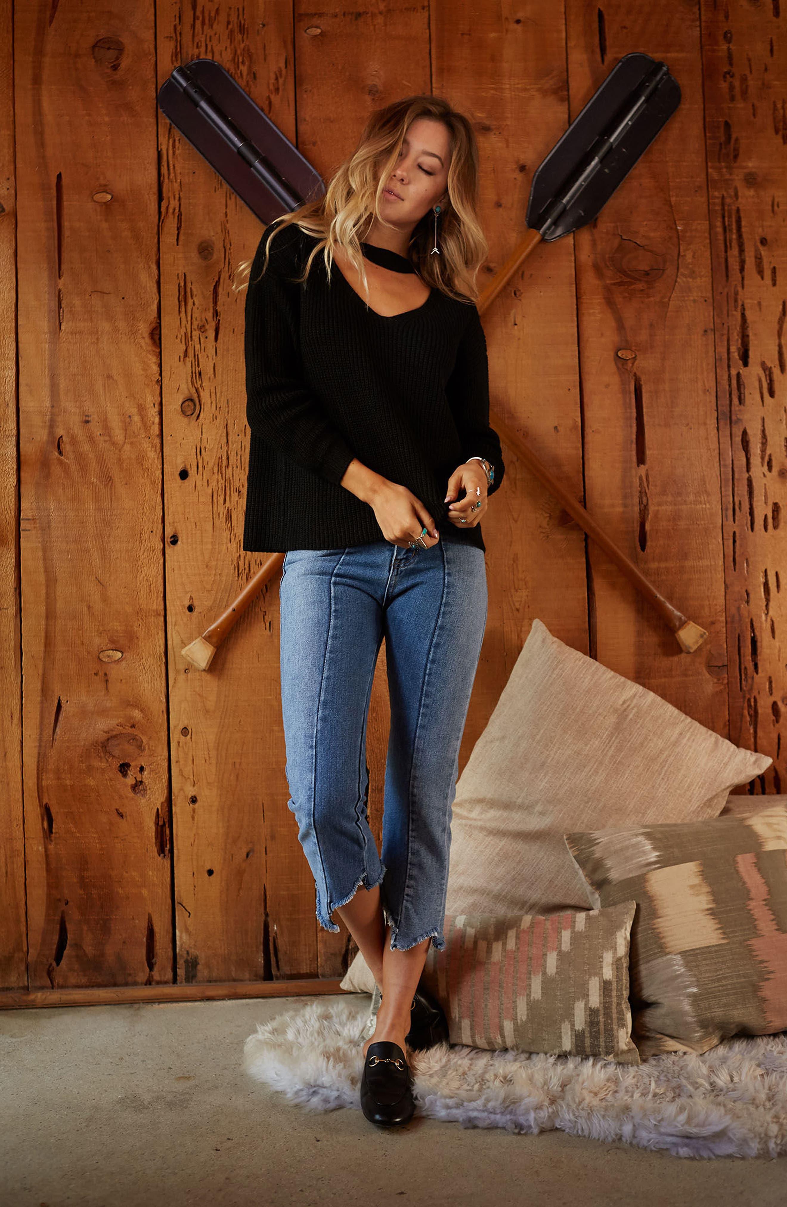 Alternate Image 2  - LOST + WANDER Madison Cutout Sweater