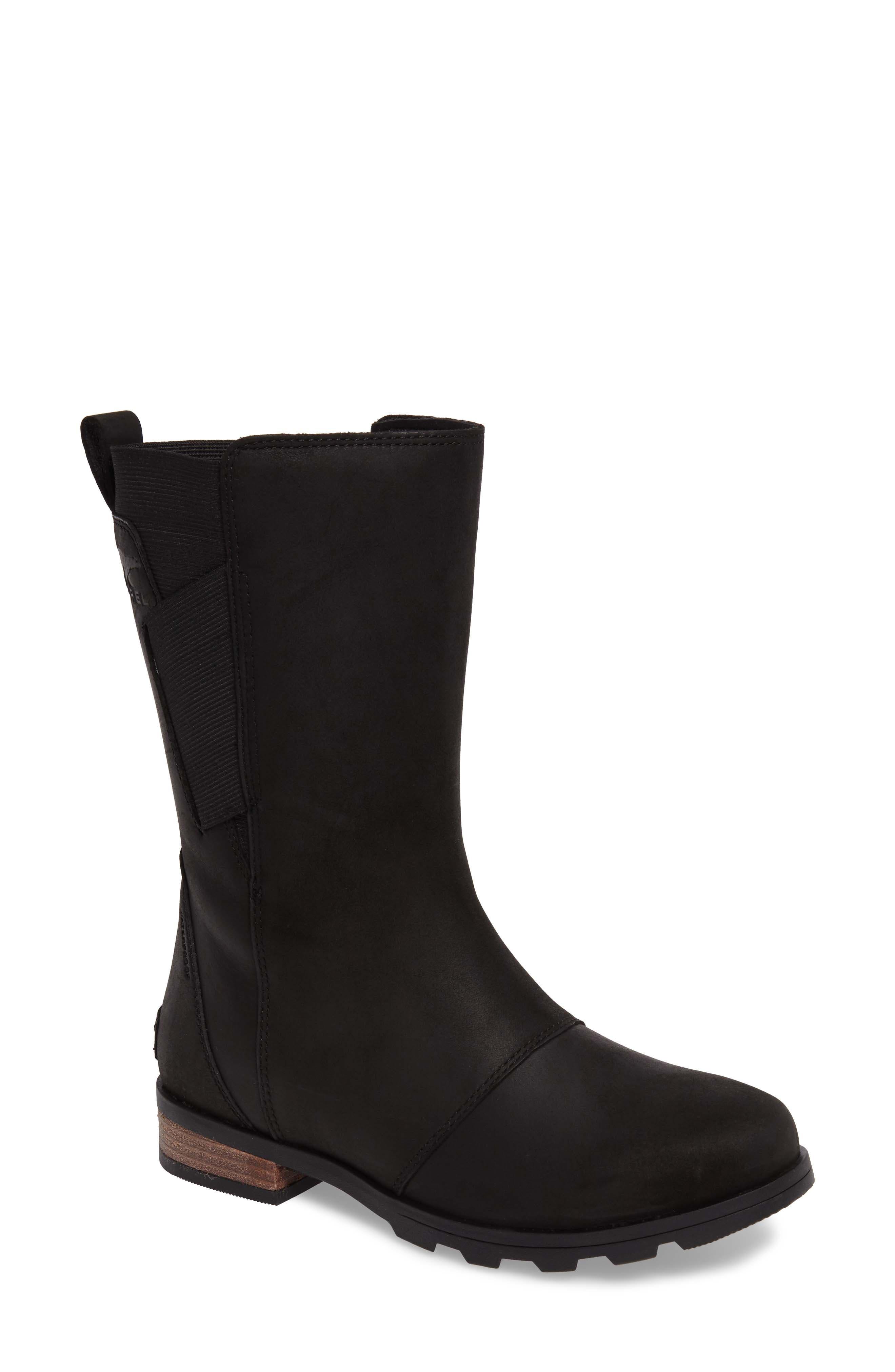 Emelie Waterproof Boot,                             Main thumbnail 1, color,                             Black