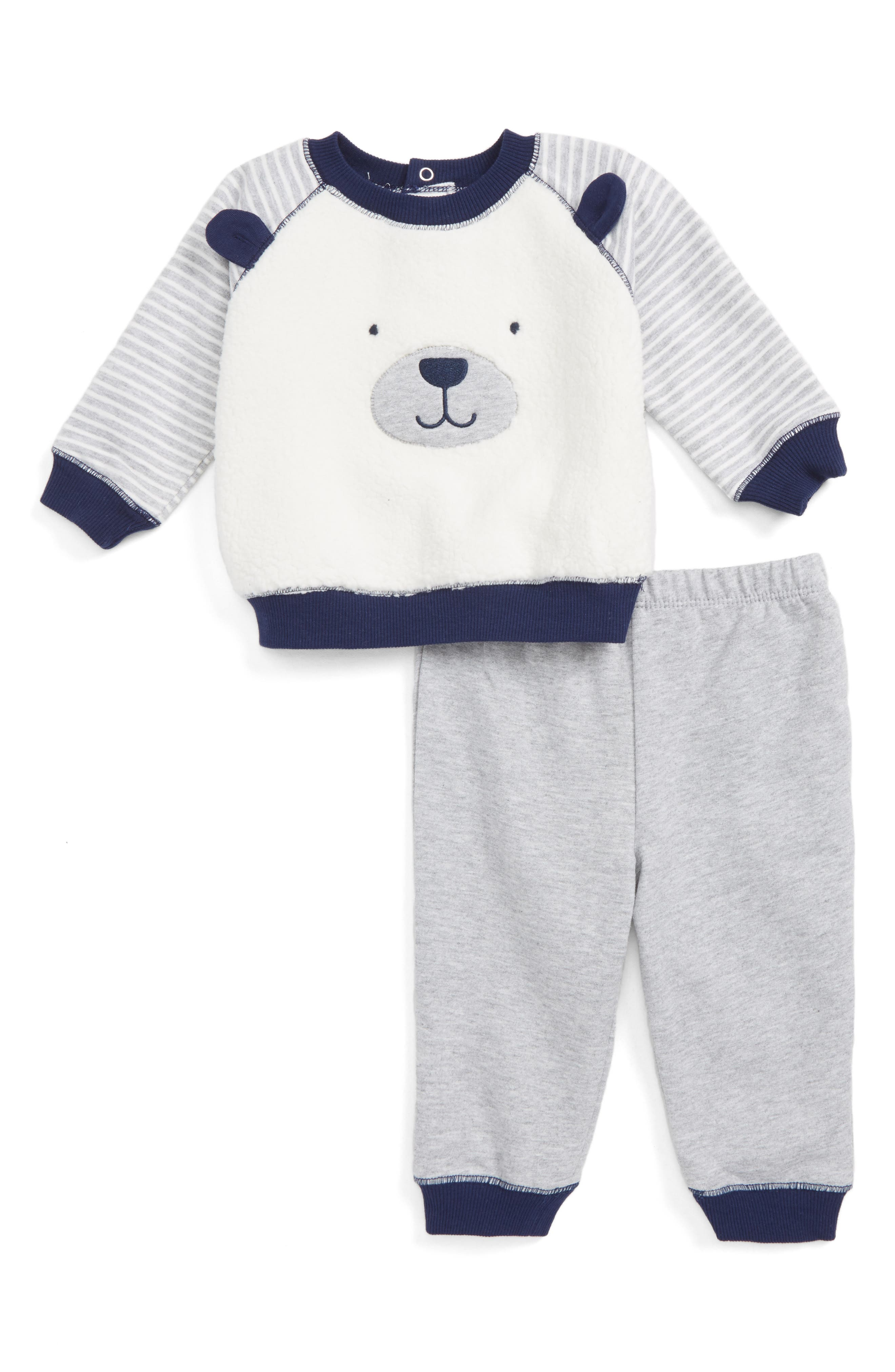 Little Me Puppy Face Sweatshirt & Sweatpants Set (Baby)