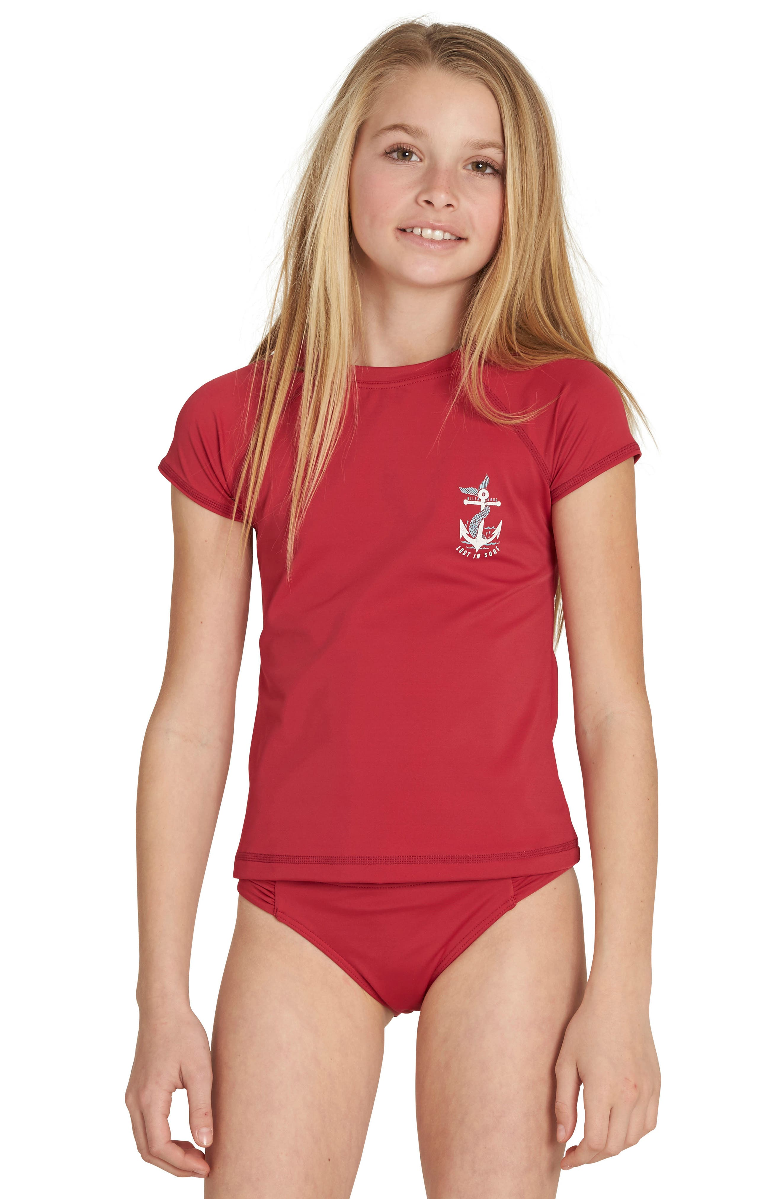 Billabong Sol Searcher Short Sleeve Rashguard (Little Girls & Big Girls)