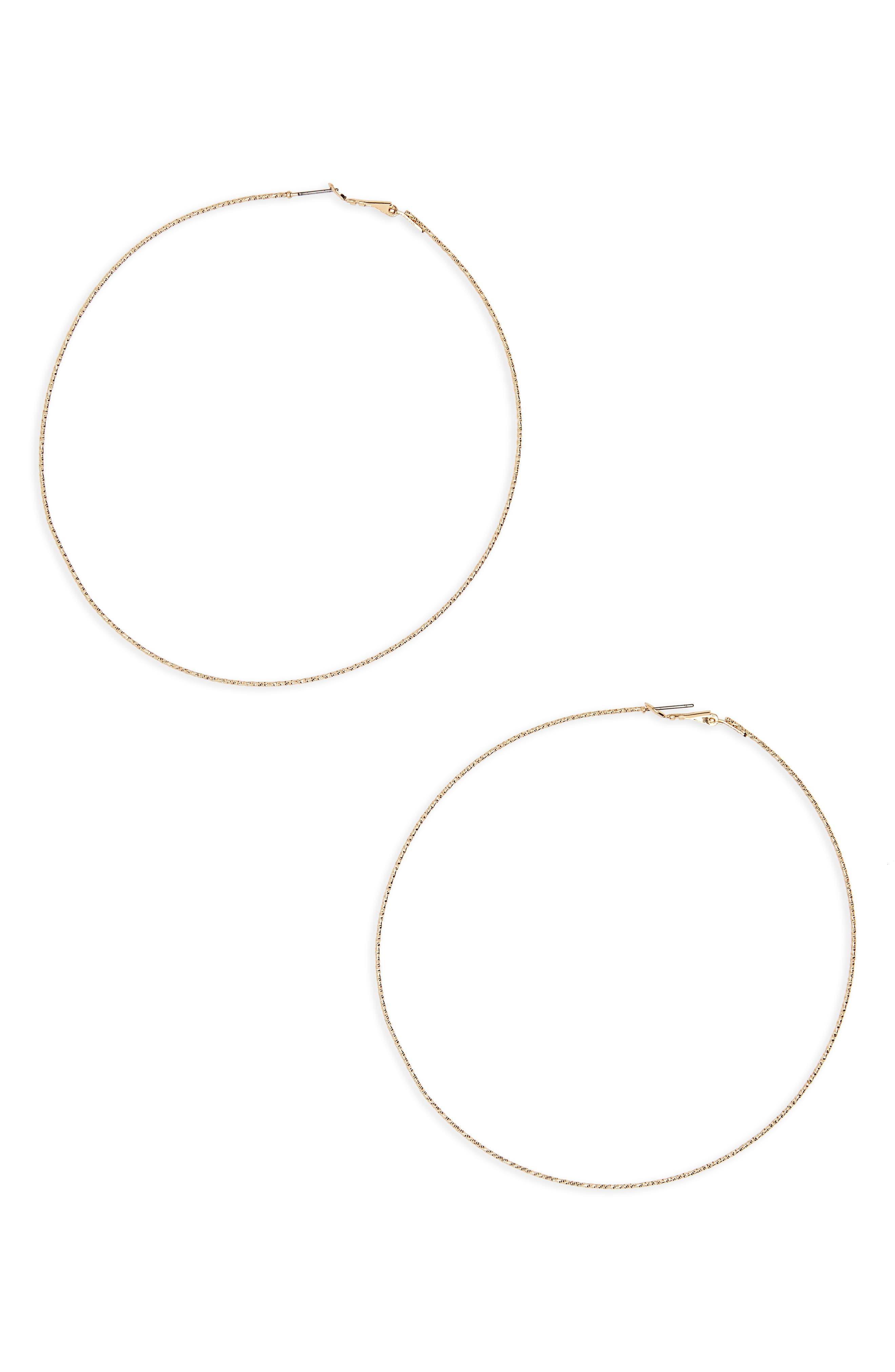 Main Image - BP. Oversize Hoop Earrings