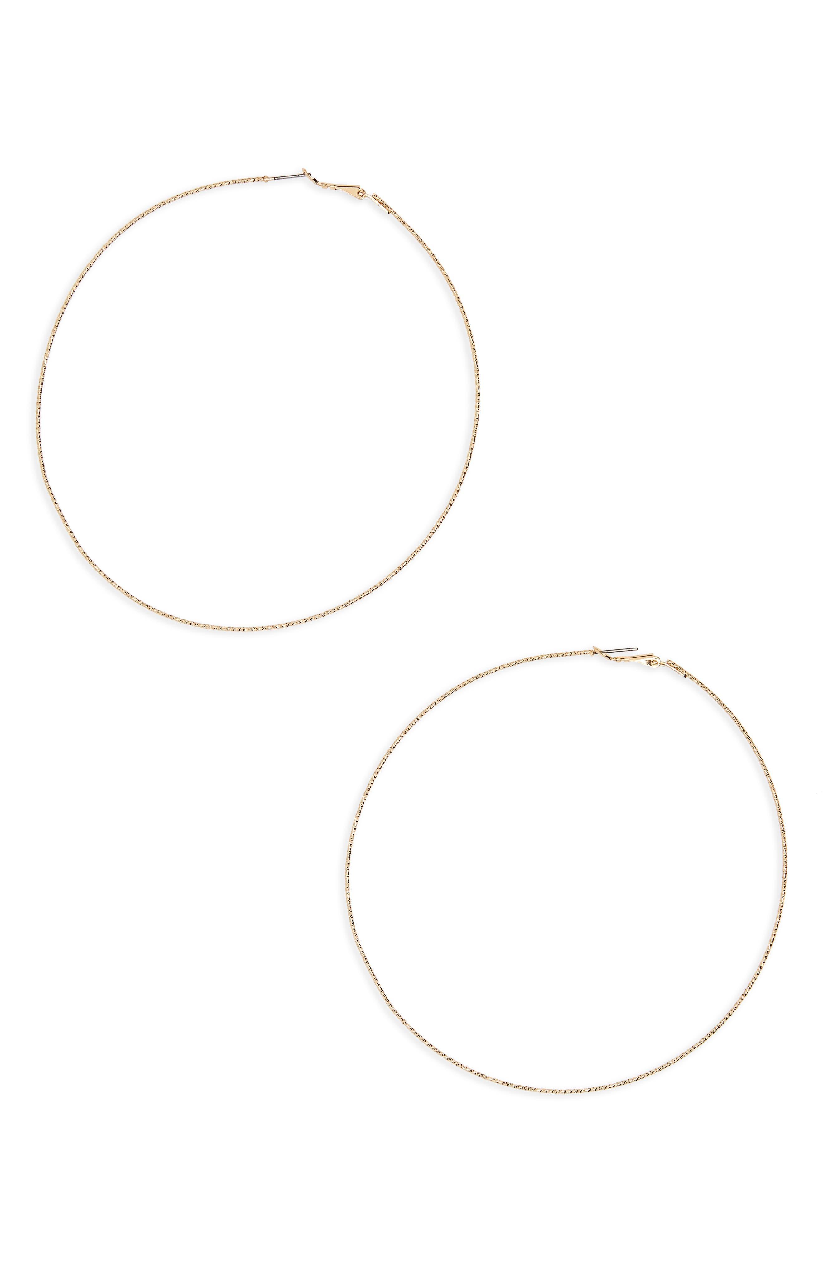 Oversize Hoop Earrings,                         Main,                         color, Gold