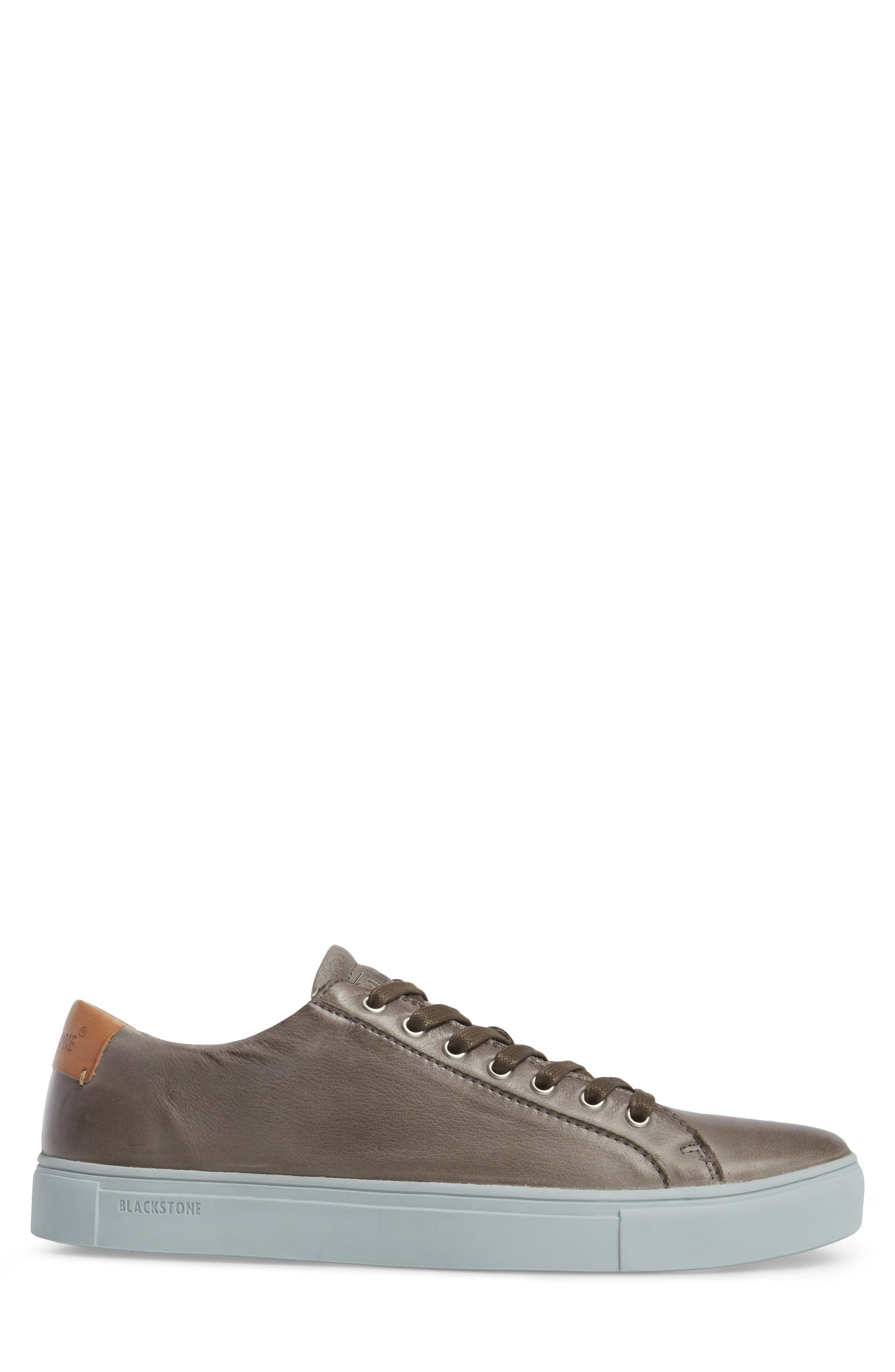 NM01 7 Eyelet Sneaker,                             Alternate thumbnail 3, color,                             Charcoal Leather
