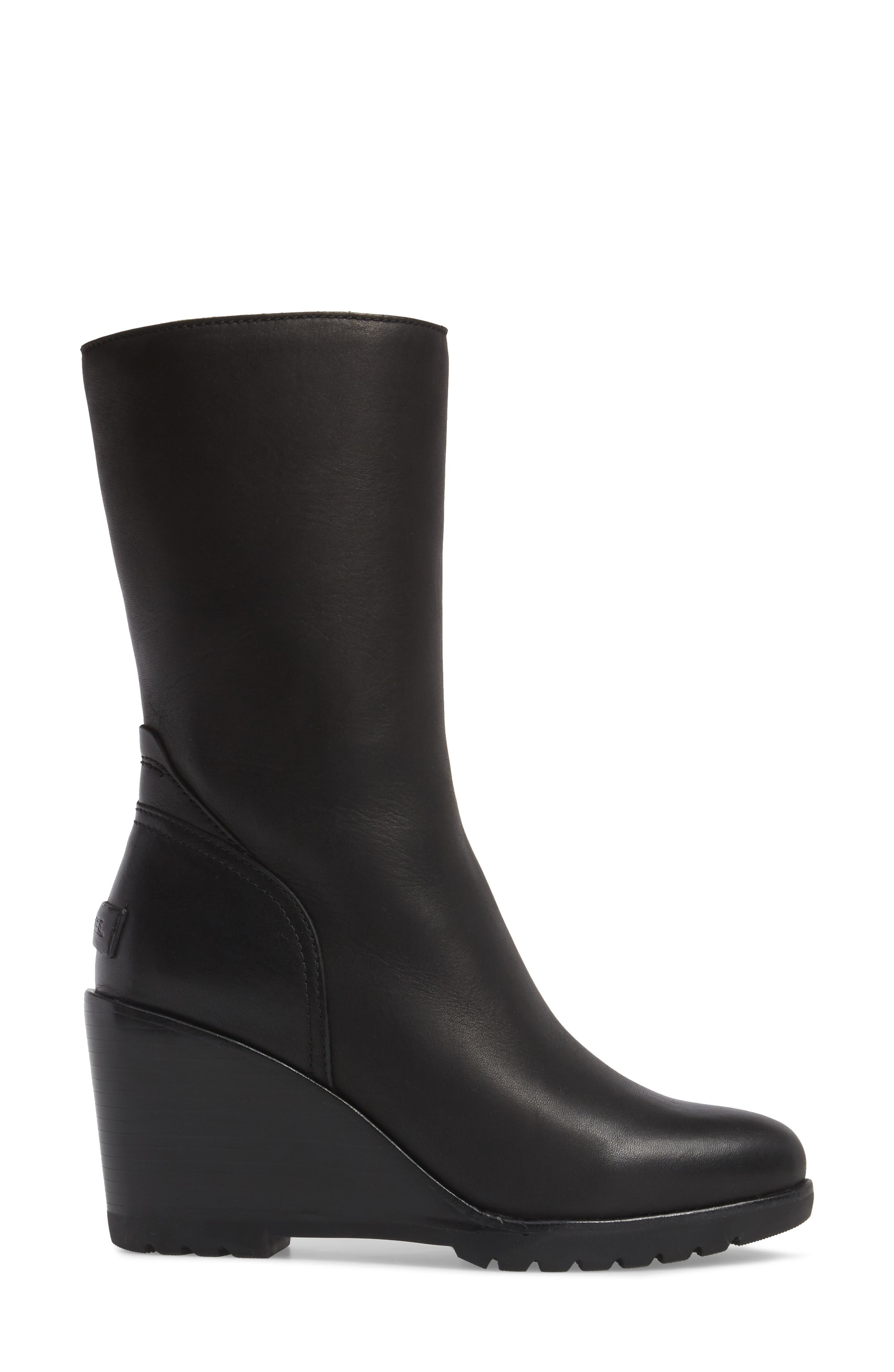 After Hours Waterproof Bootie,                             Alternate thumbnail 3, color,                             Black
