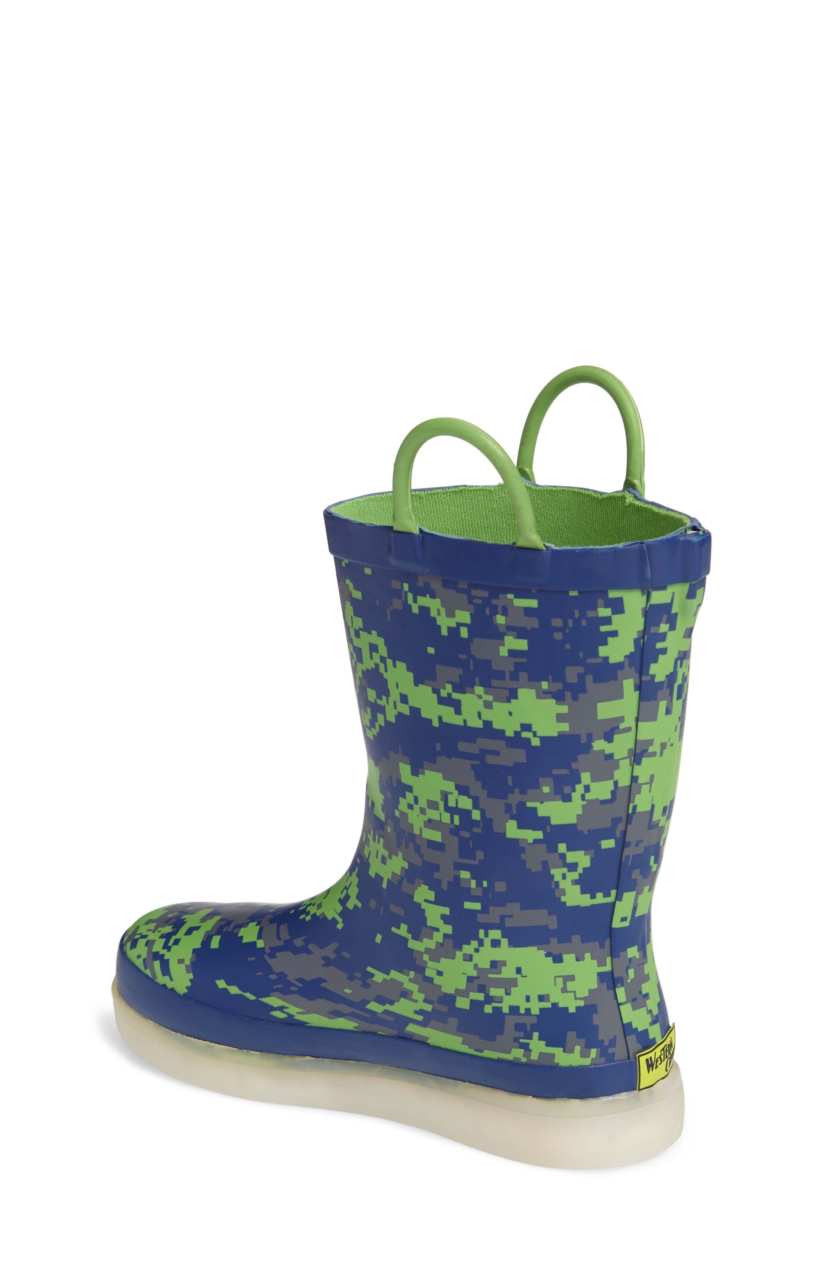 Alternate Image 2  - Western Chief Digital Camo LED Rain Boot (Toddler, Little Kid & Big Kid)